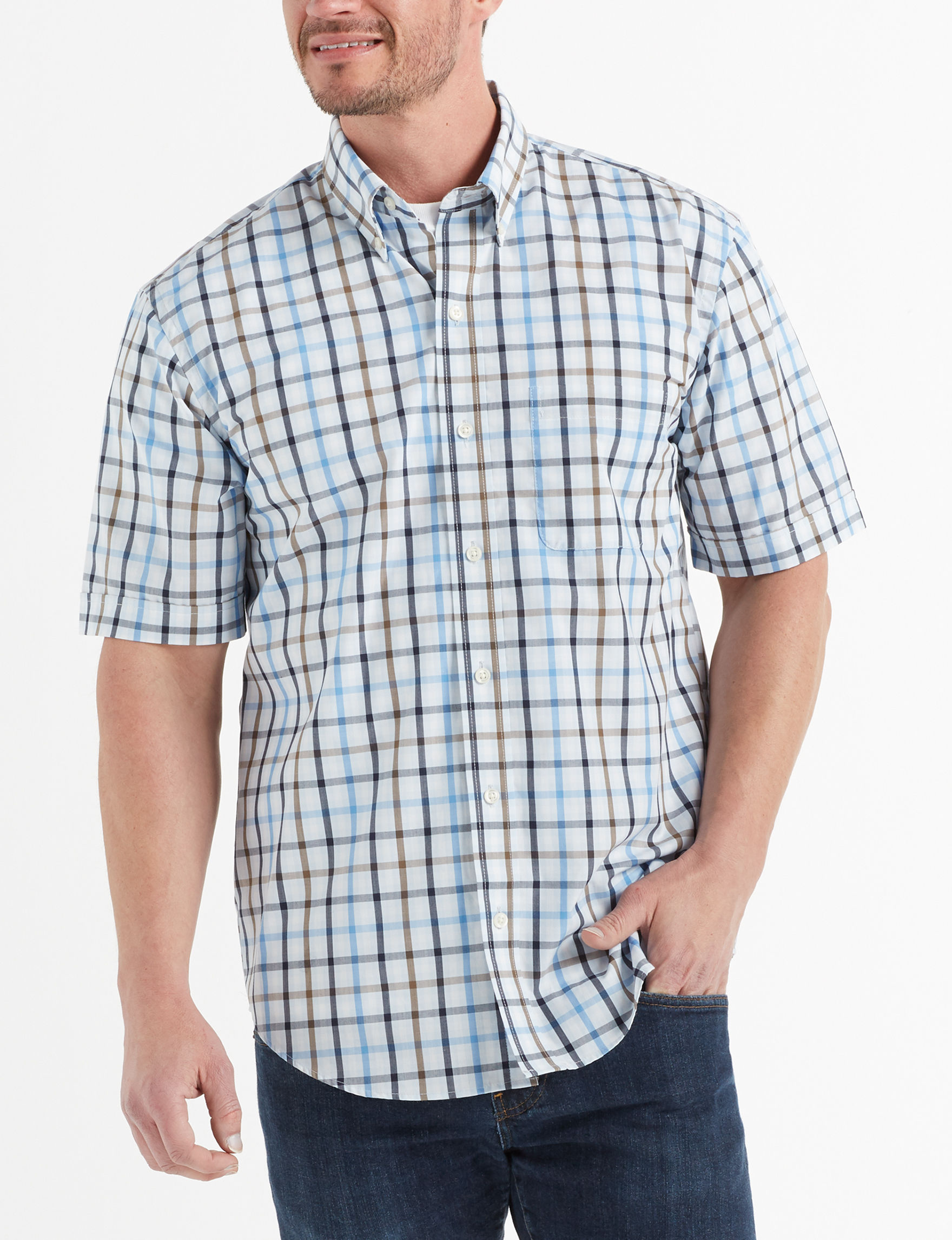 Arrow Sapphire Ice Casual Button Down Shirts
