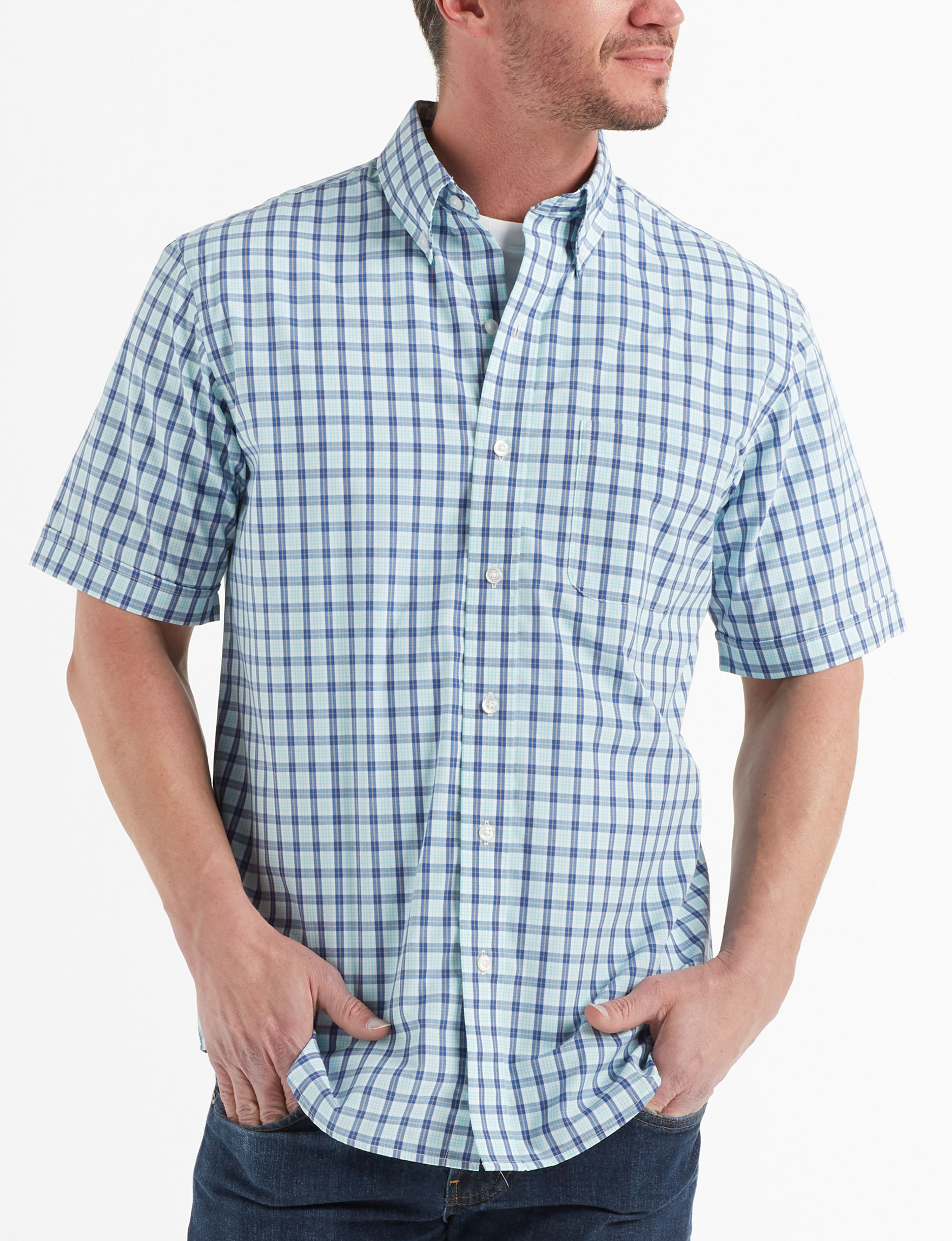 Arrow Aqua Splash Casual Button Down Shirts