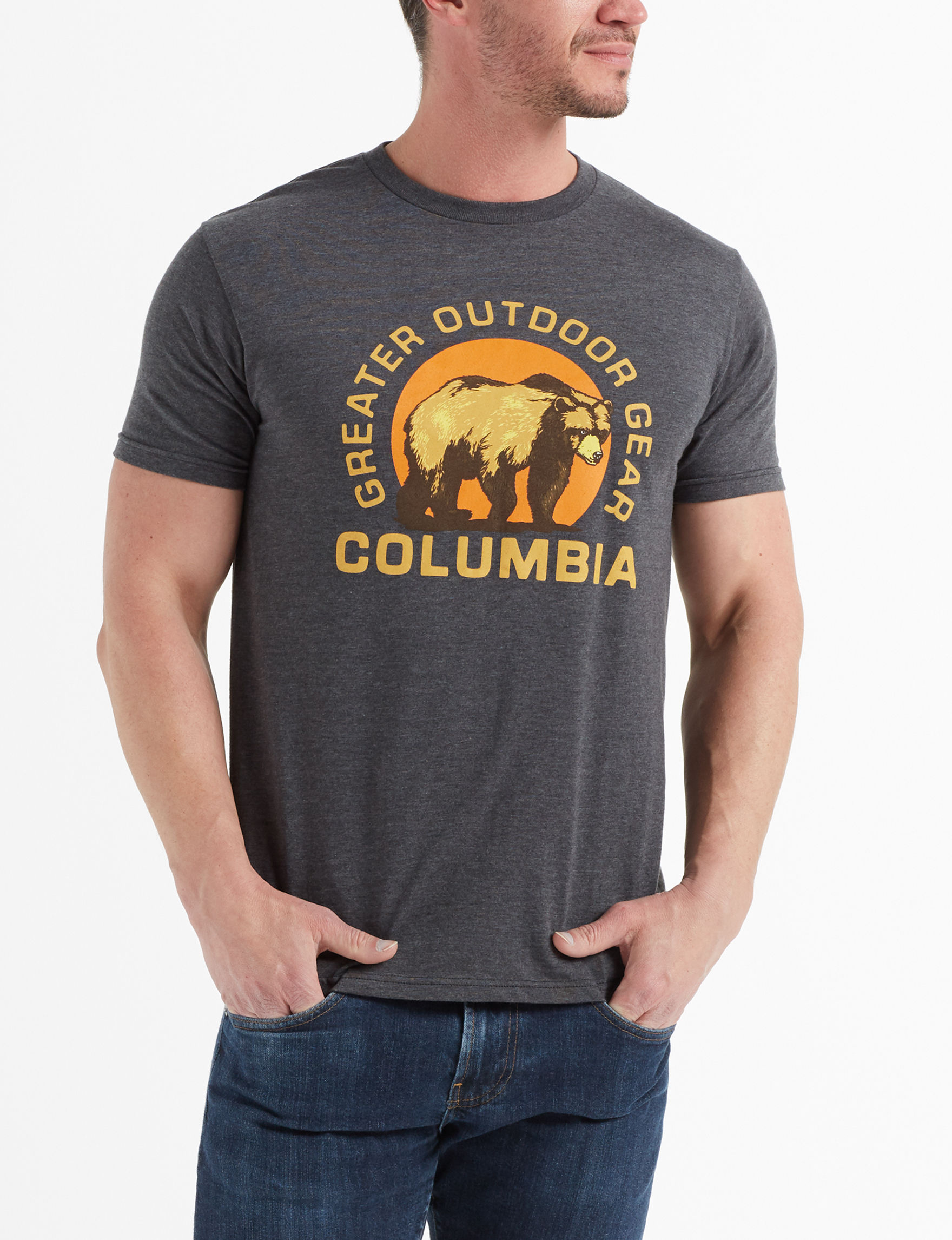 Columbia Dark Heather Grey Tees & Tanks