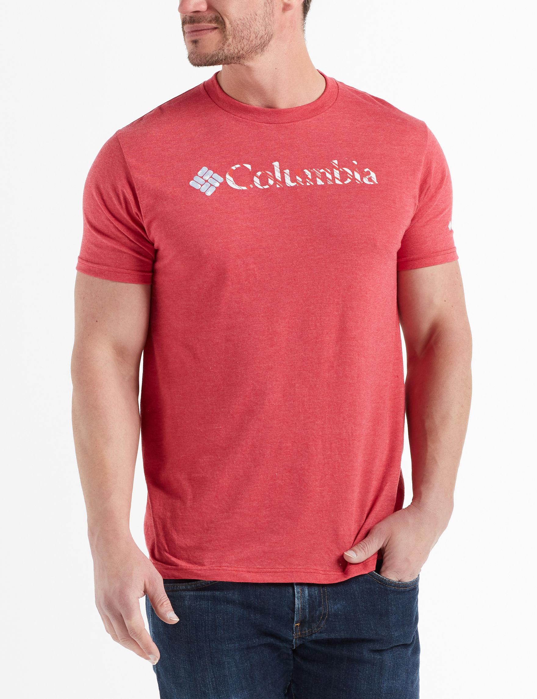 Columbia Heather Red Tees & Tanks