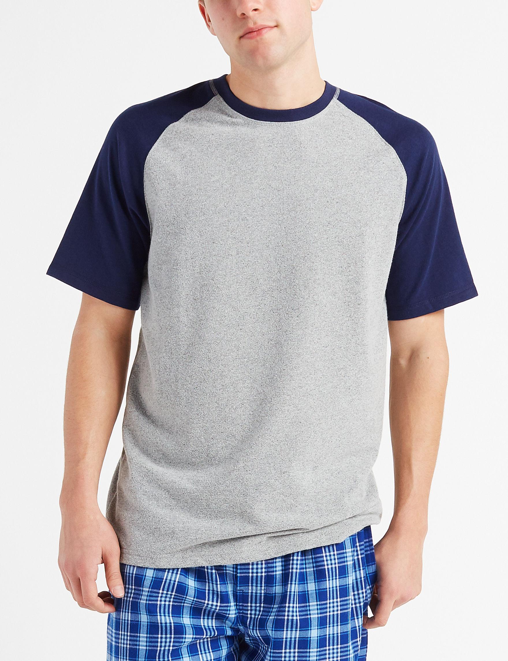 Izod Grey / Navy Pajama Tops