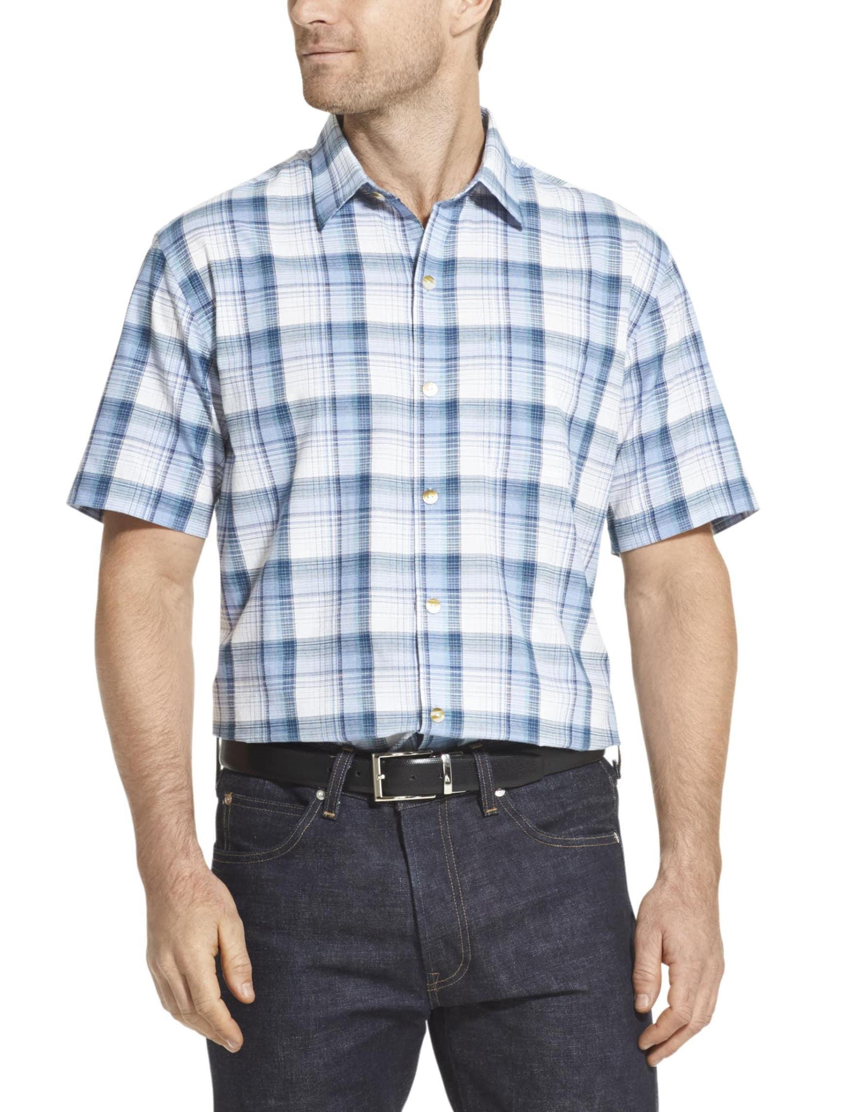 Van Heusen Blue Colony Casual Button Down Shirts
