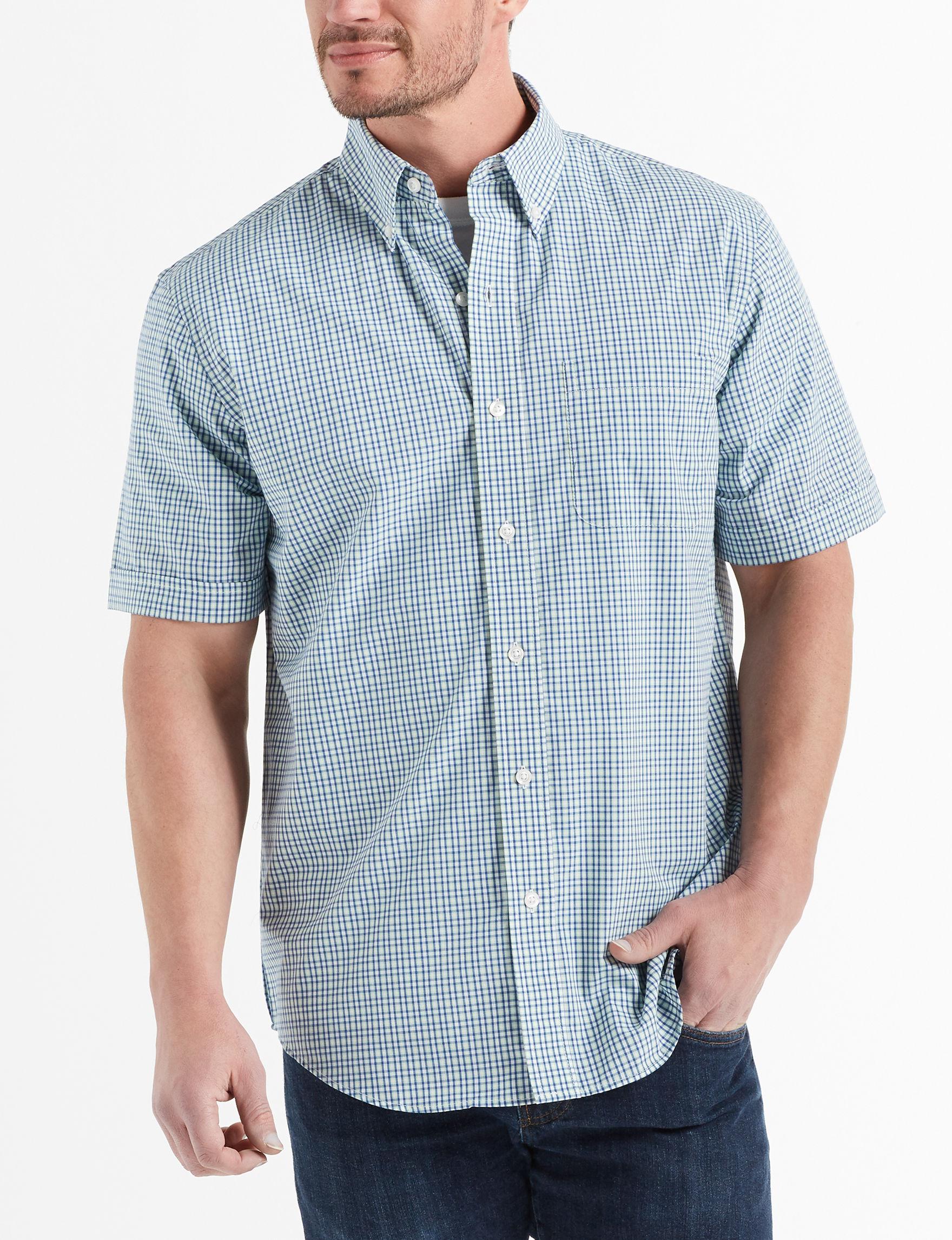 Arrow Blue / Plaid Casual Button Down Shirts
