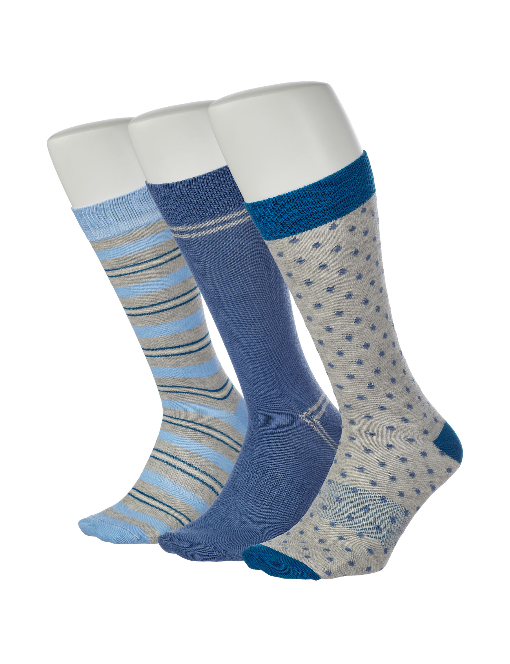 Ivy Crew Blue / Multi Socks