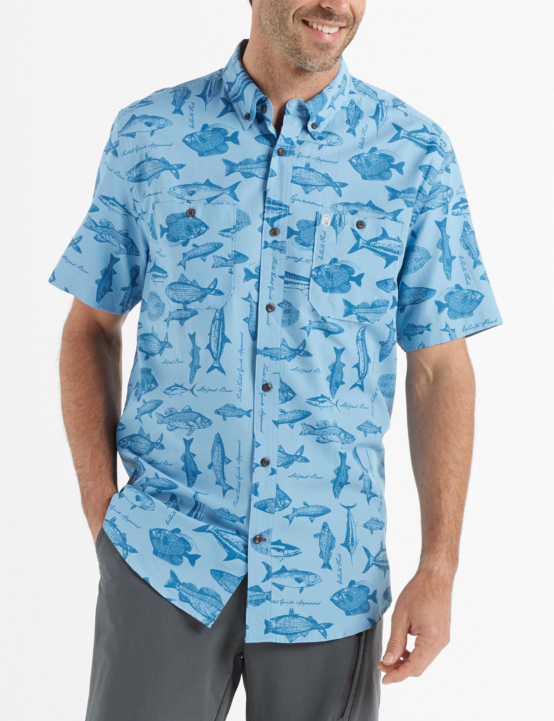 Coleman Blue / Blue Casual Button Down Shirts