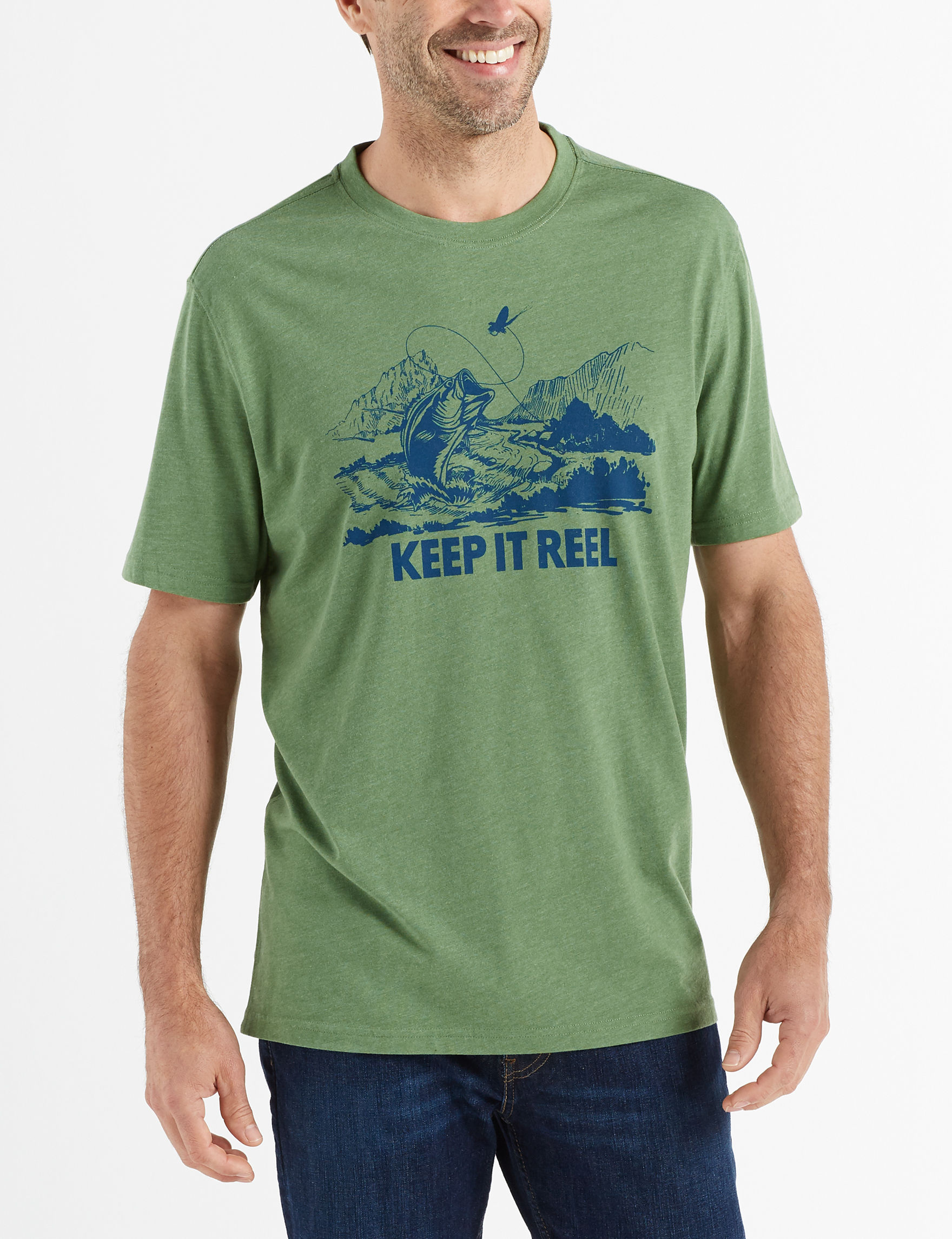 Coleman Heather Green Tees & Tanks