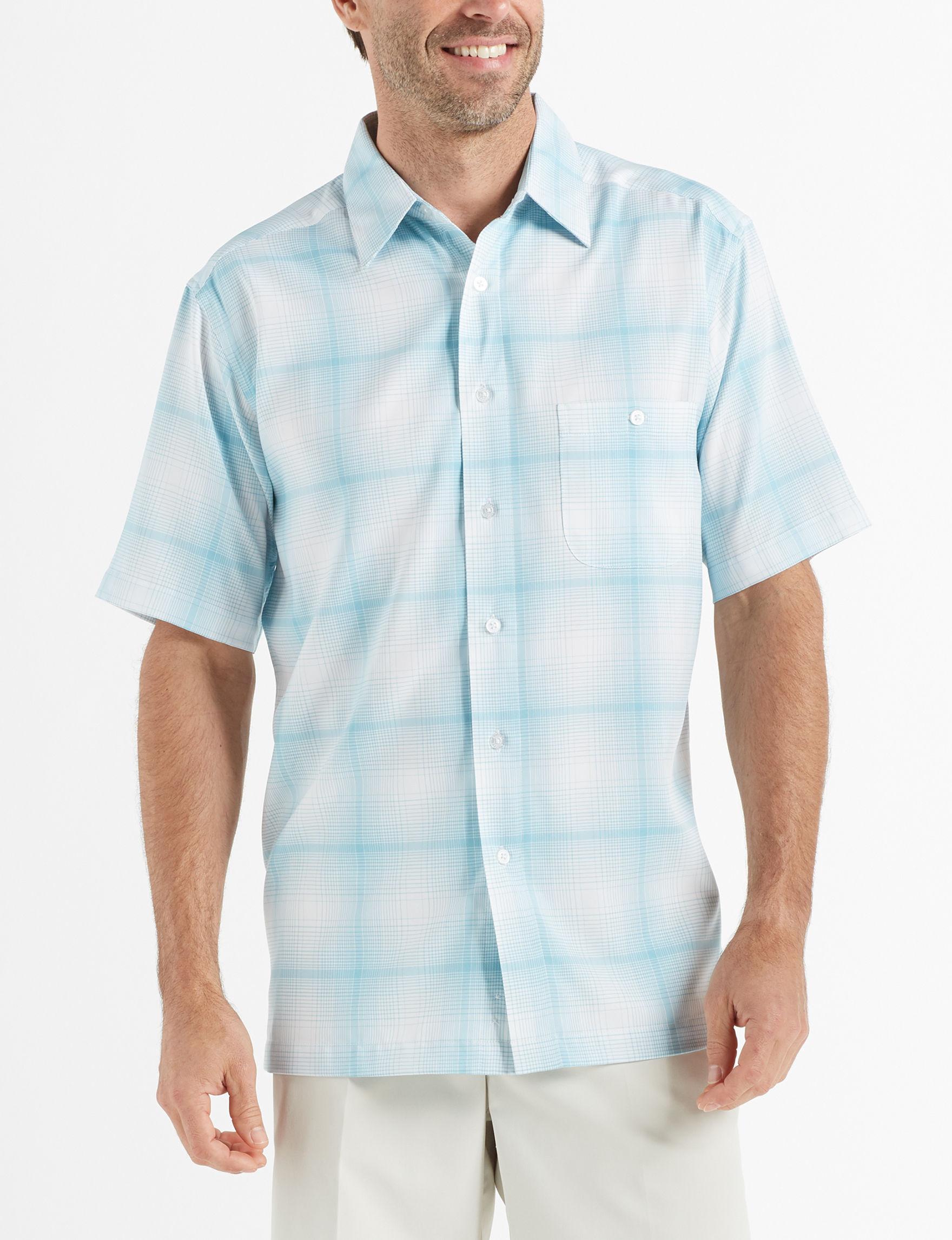 Haggar White Casual Button Down Shirts