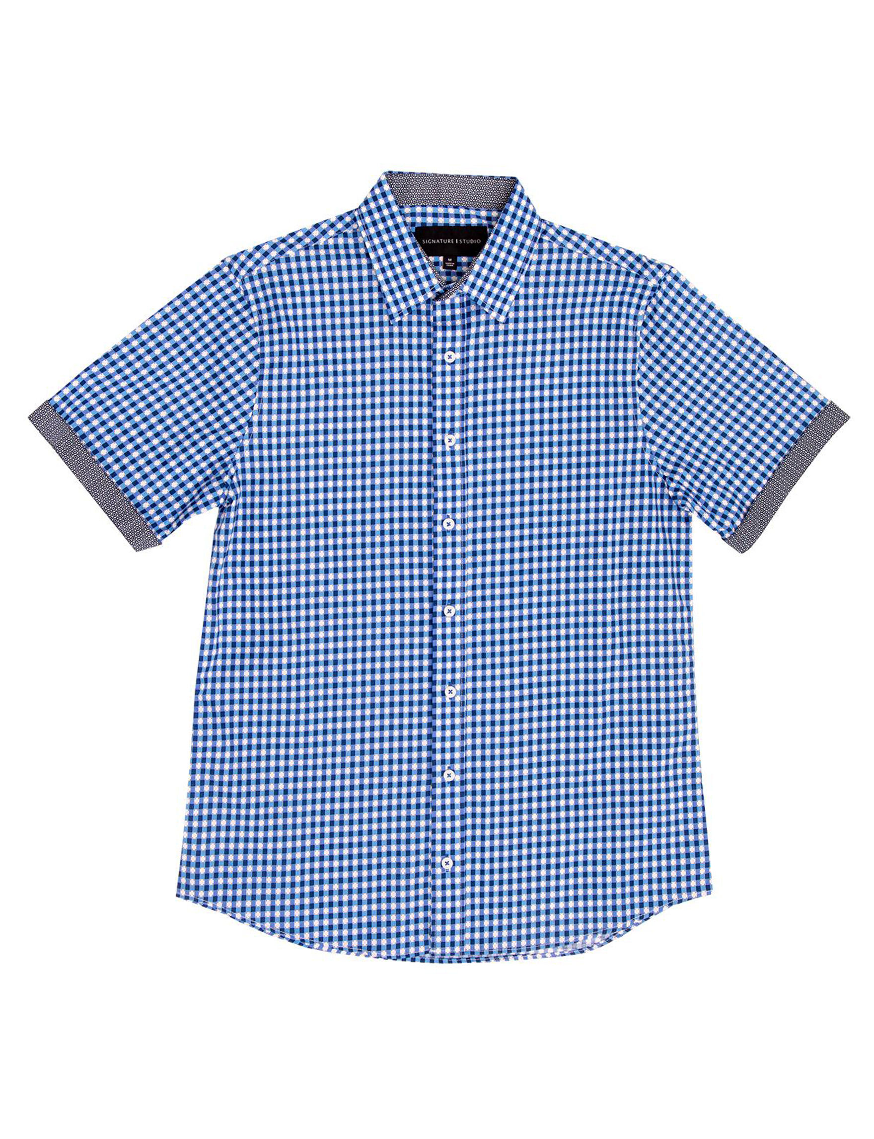 Signature Studio Blue / Navy Casual Button Down Shirts
