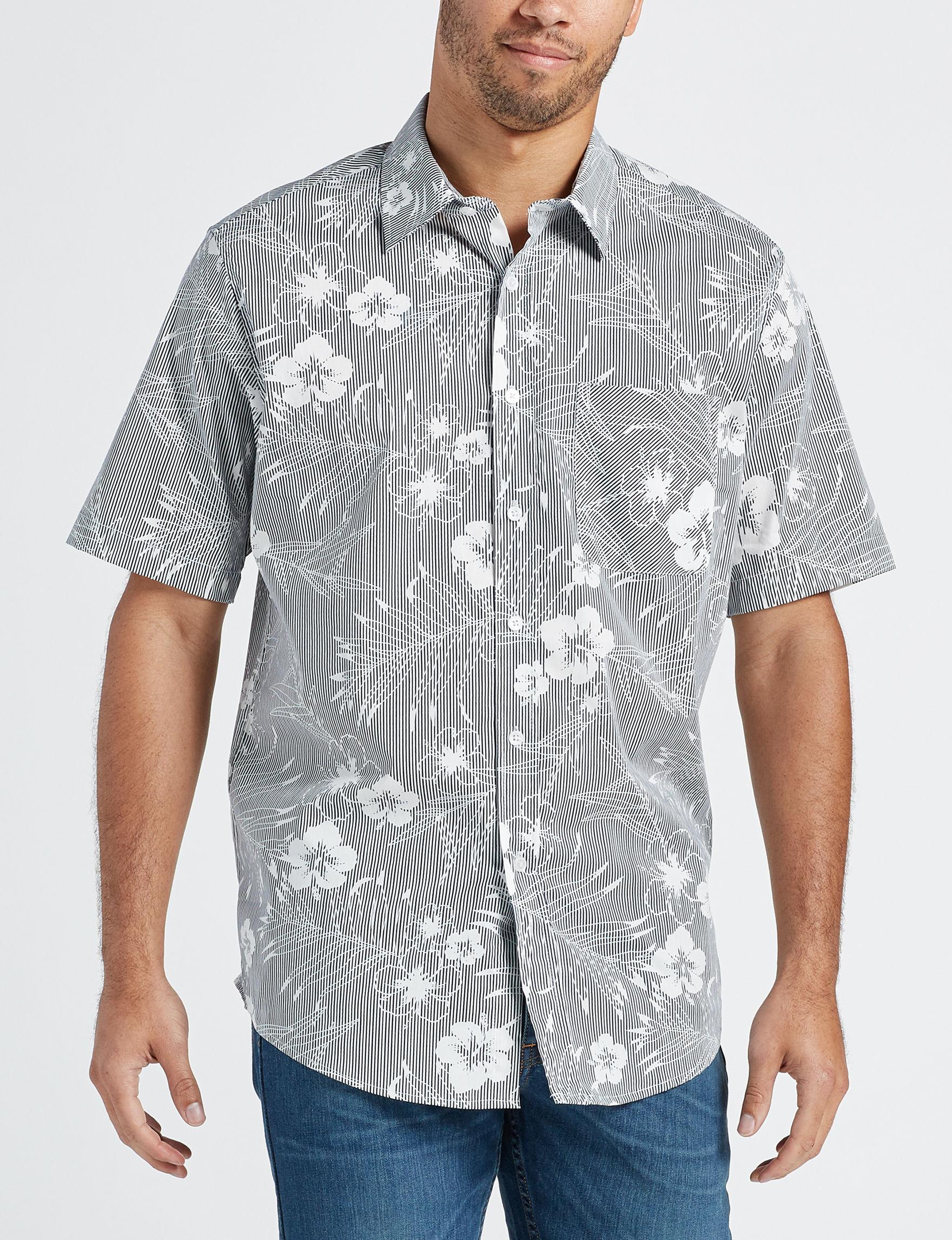 Sun River Blue / Multi Casual Button Down Shirts