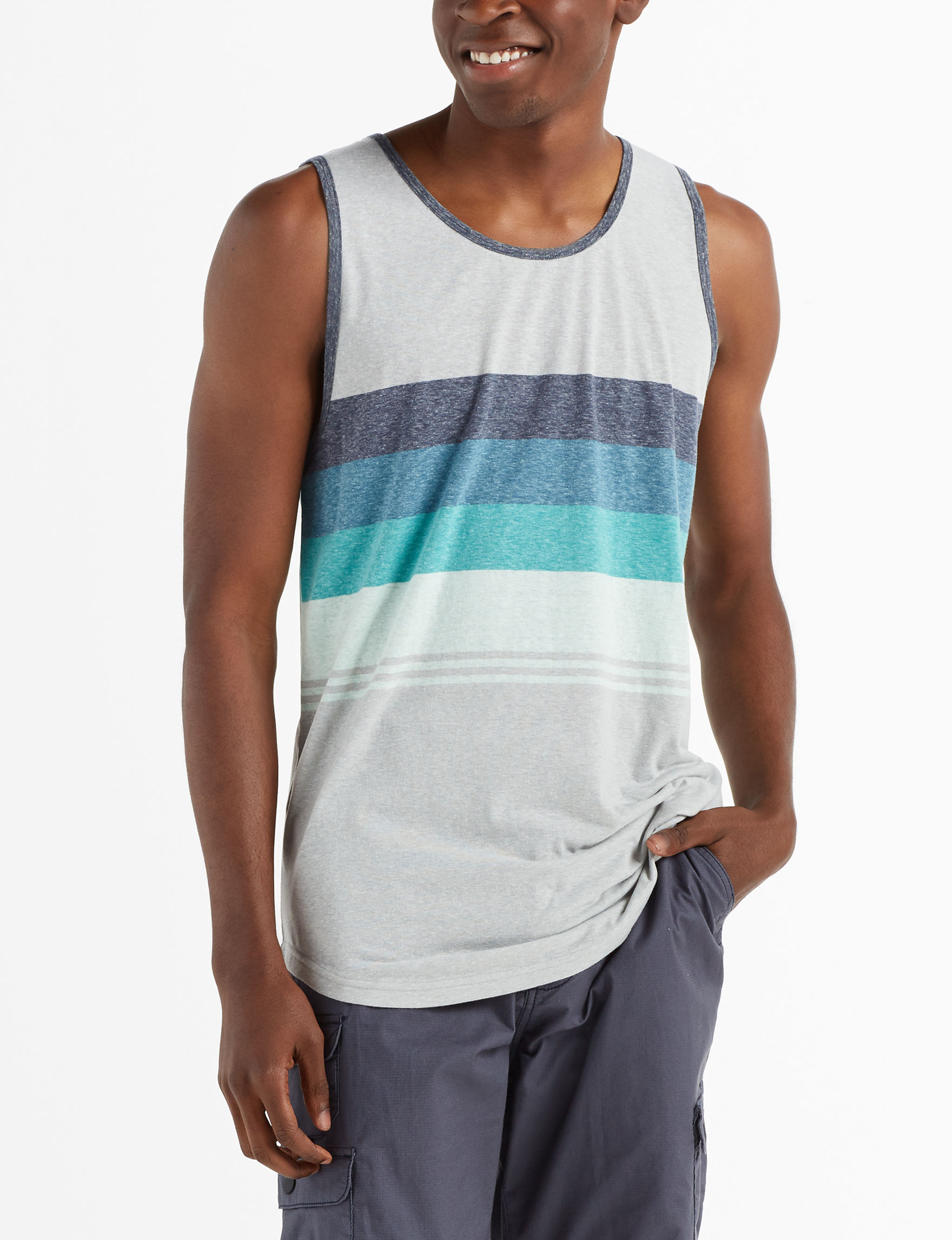 Ocean Current Grey / Multi Tees & Tanks