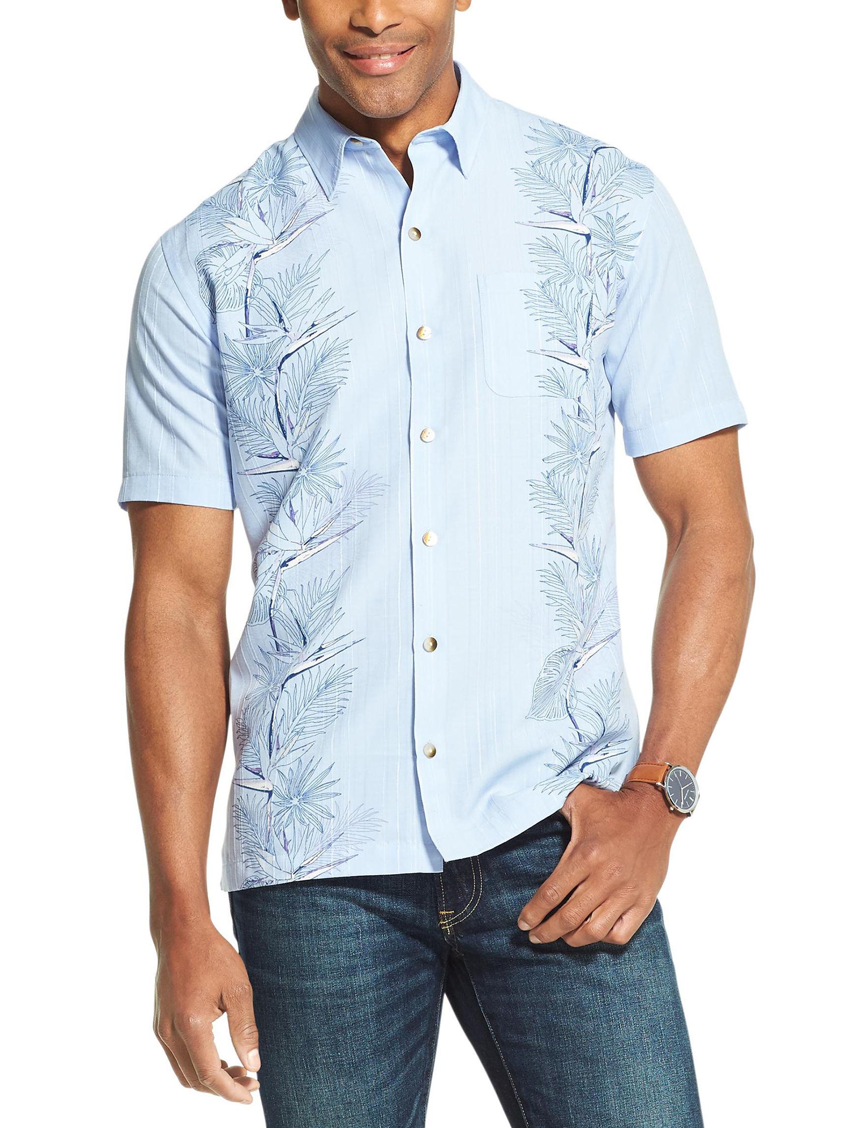 Van Heusen Blue Ice Casual Button Down Shirts