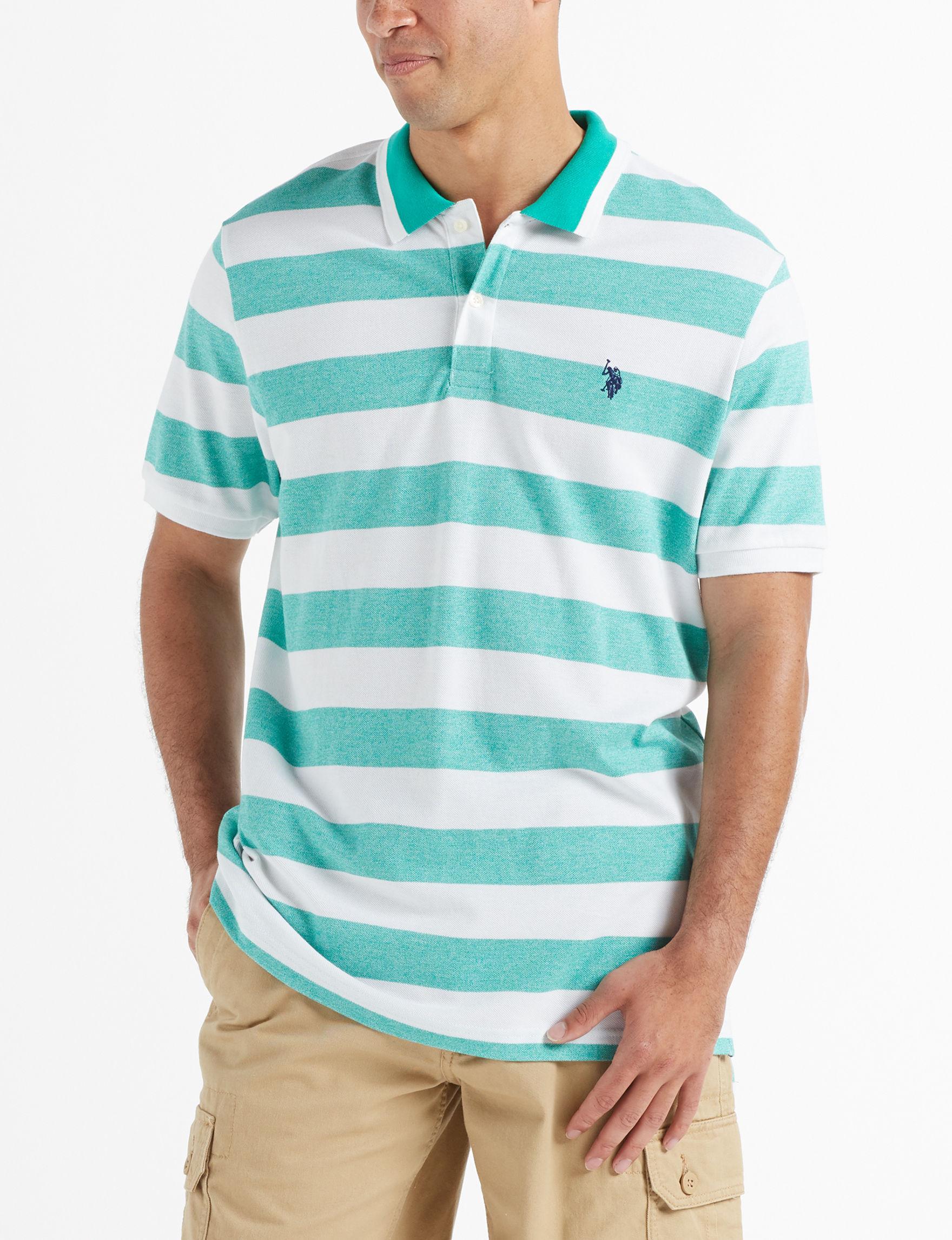 U.S. Polo Assn. Green / White Polos