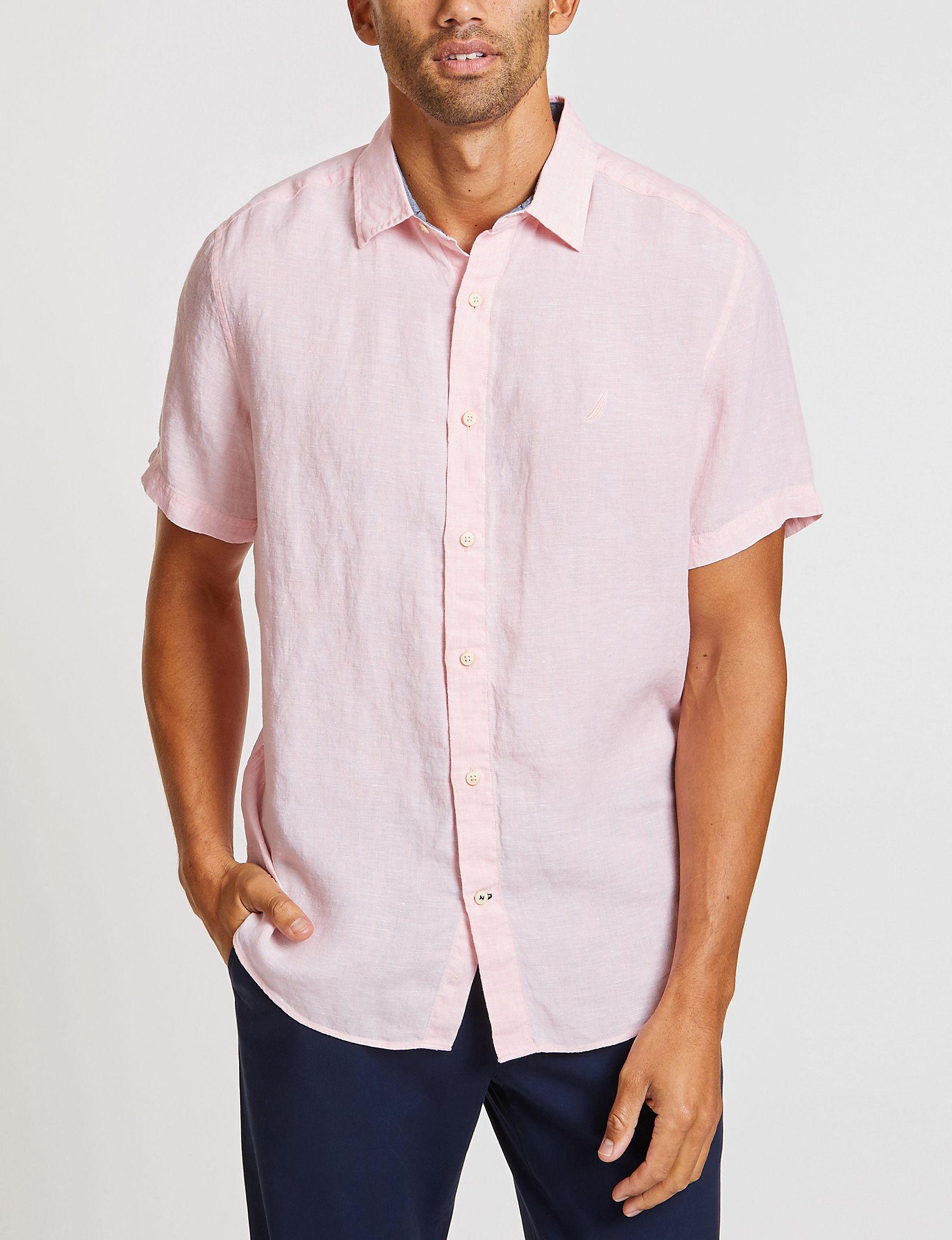 Nautica Pink Casual Button Down Shirts