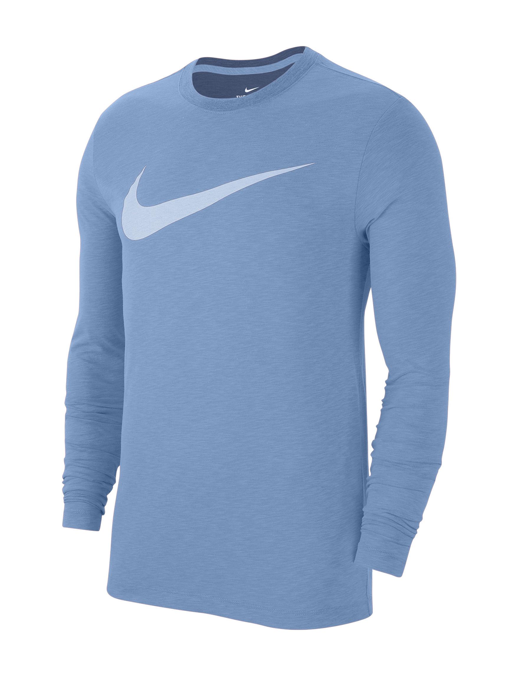 Nike Light Blue Multi Tees & Tanks