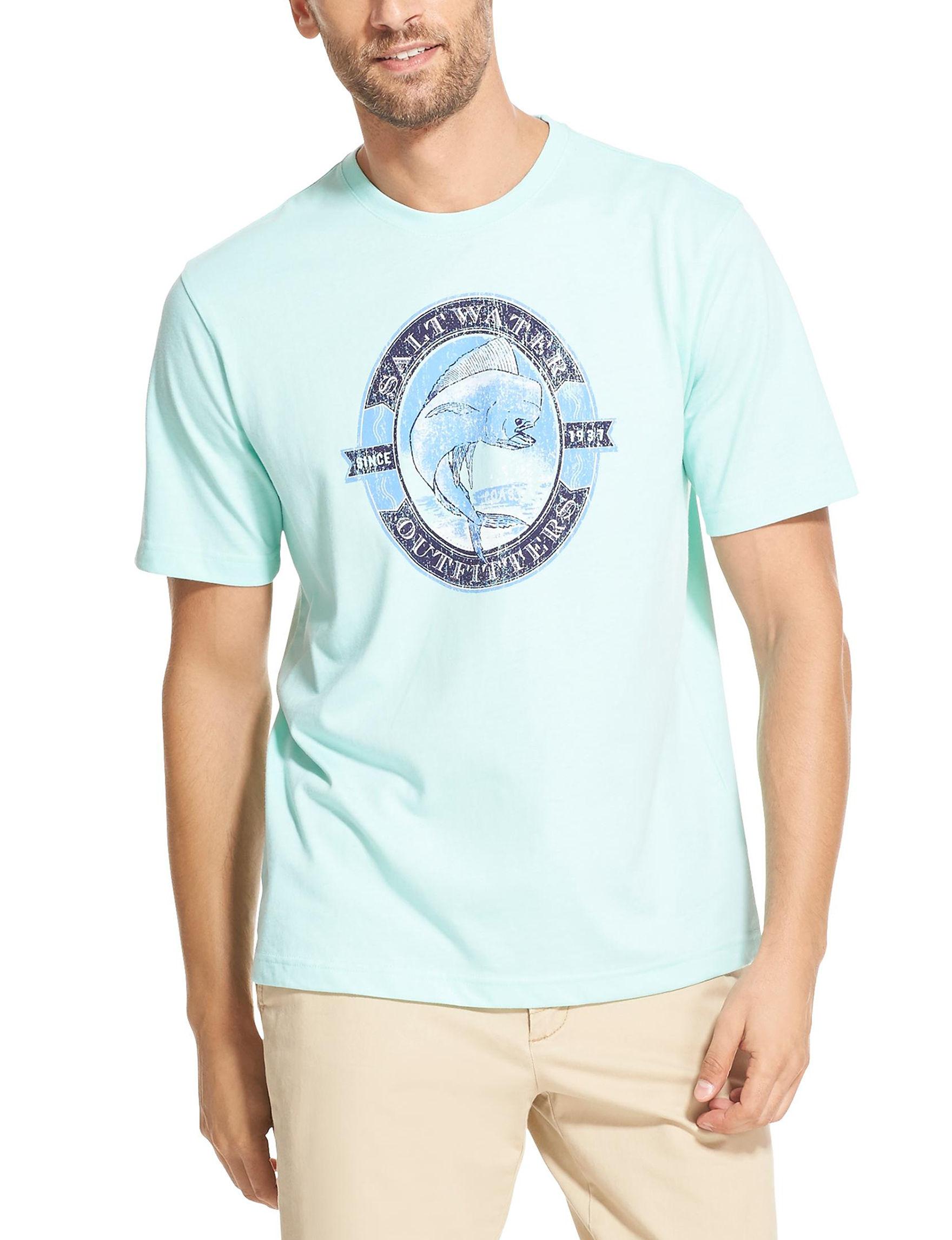Izod Surfer Blue Tees & Tanks