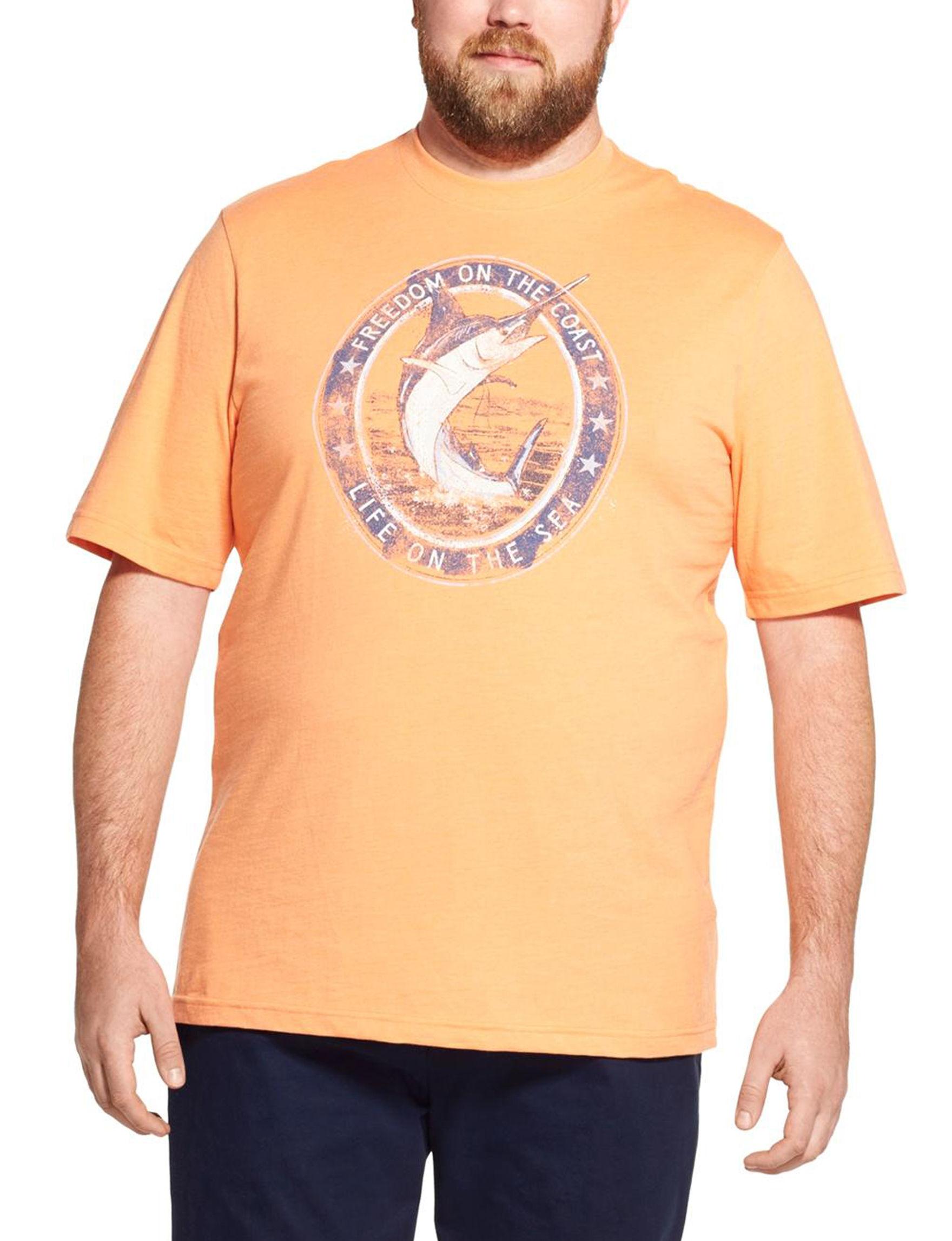 Izod Orange / Multi Tees & Tanks