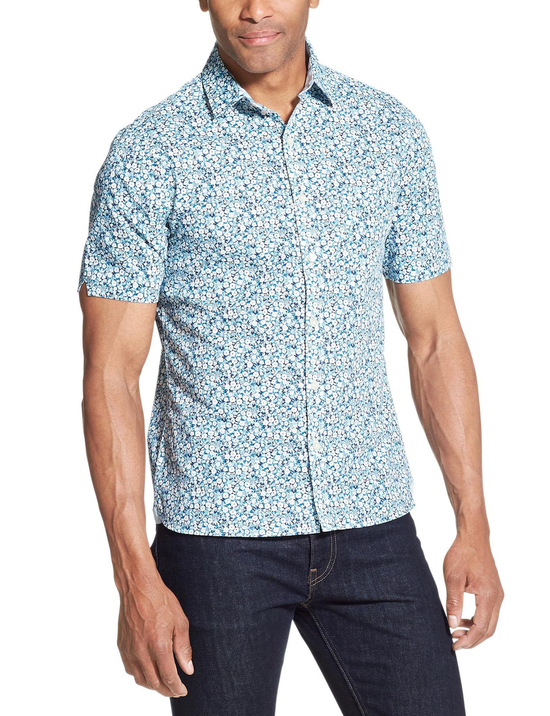 Van Heusen Stone Casual Button Down Shirts