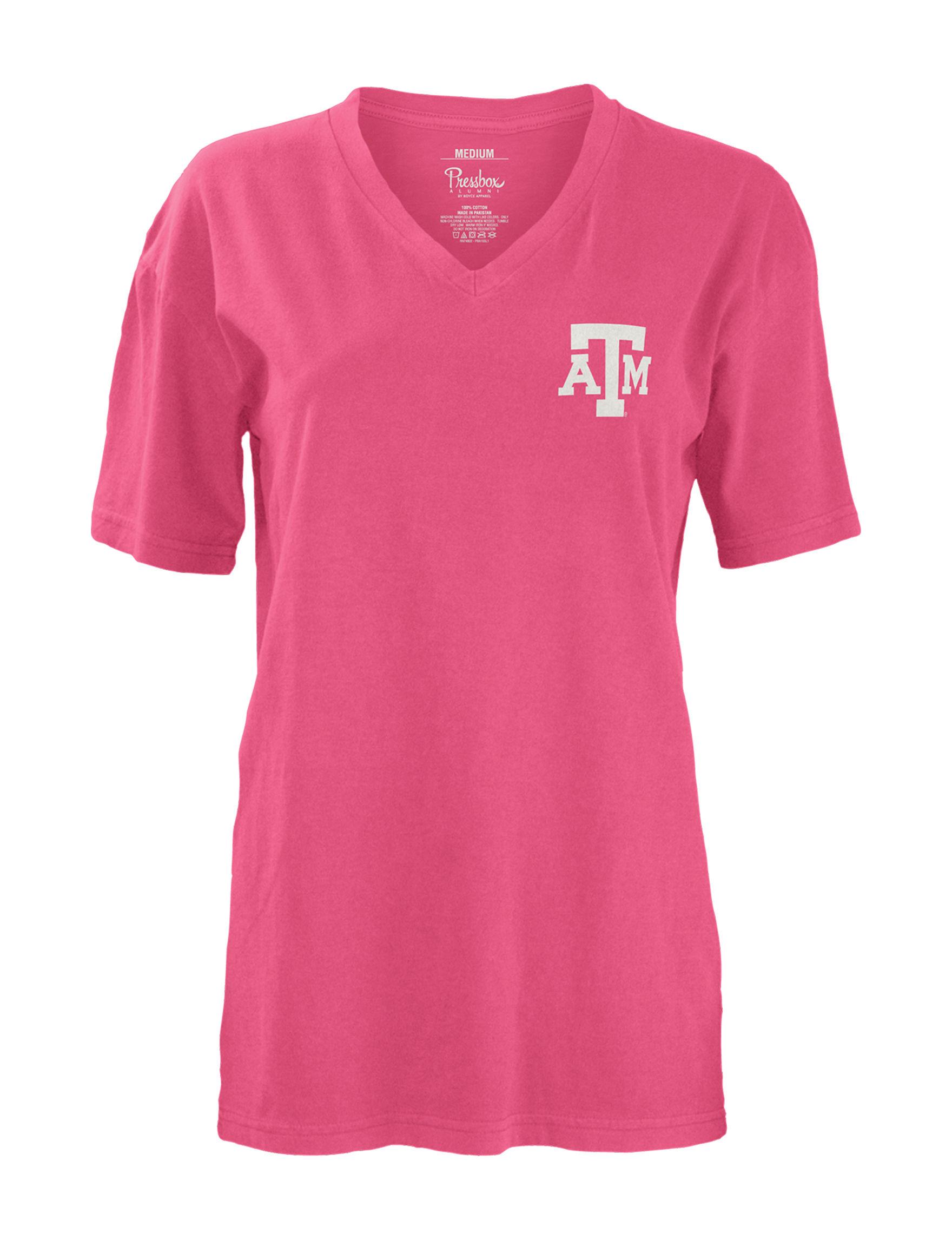 NCAA Pink / Multi Tees & Tanks