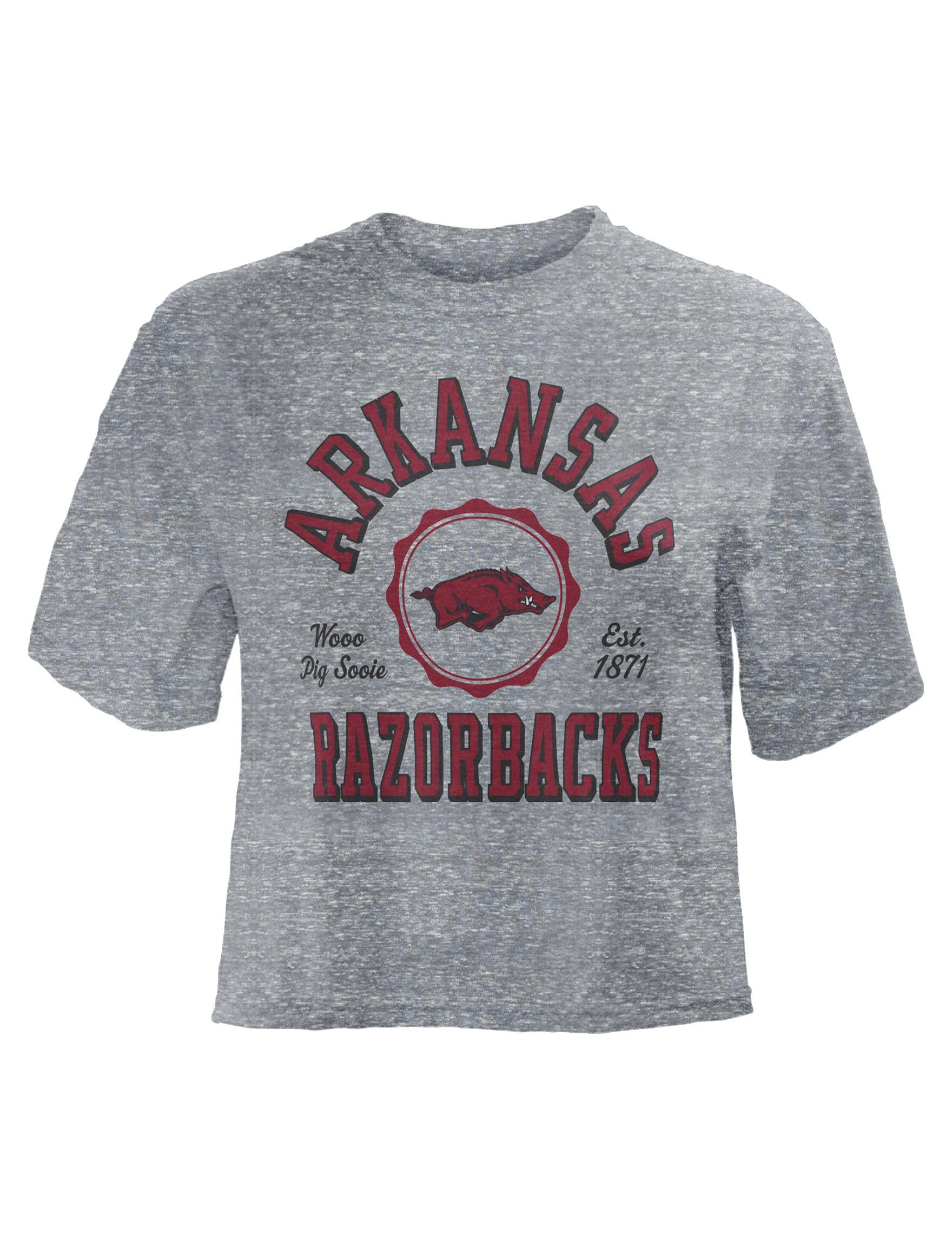 NCAA Grey / Red Tees & Tanks