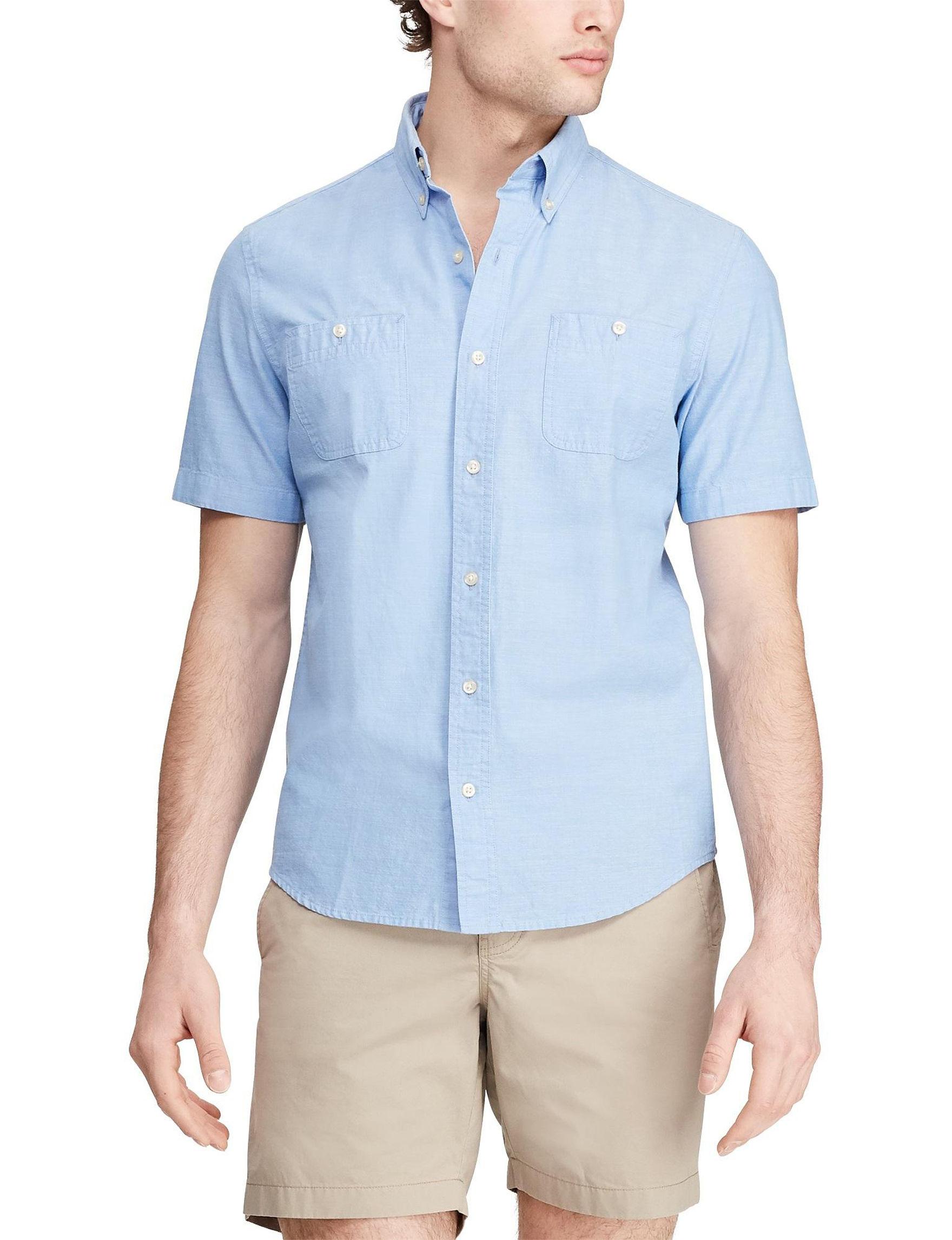 Chaps Blue Lagoon Casual Button Down Shirts