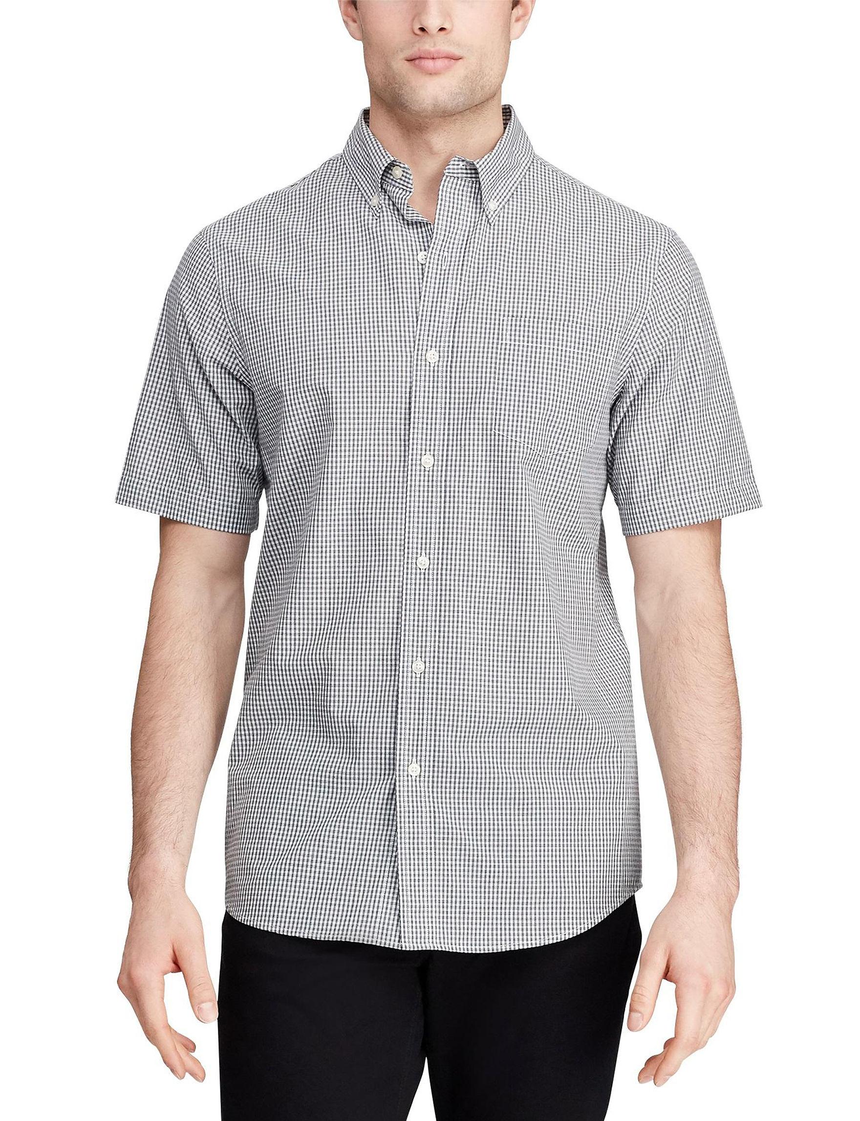 Chaps White / Multi Casual Button Down Shirts