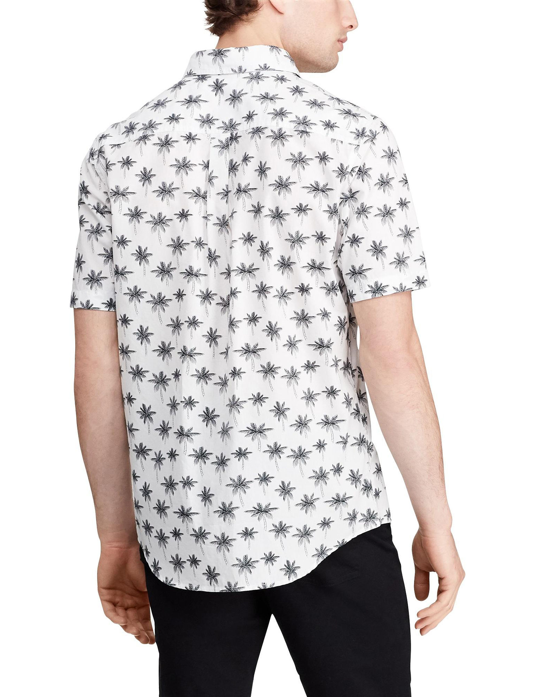 737bab02c Chaps Men's Palm Tree Woven Shirt | Stage Stores