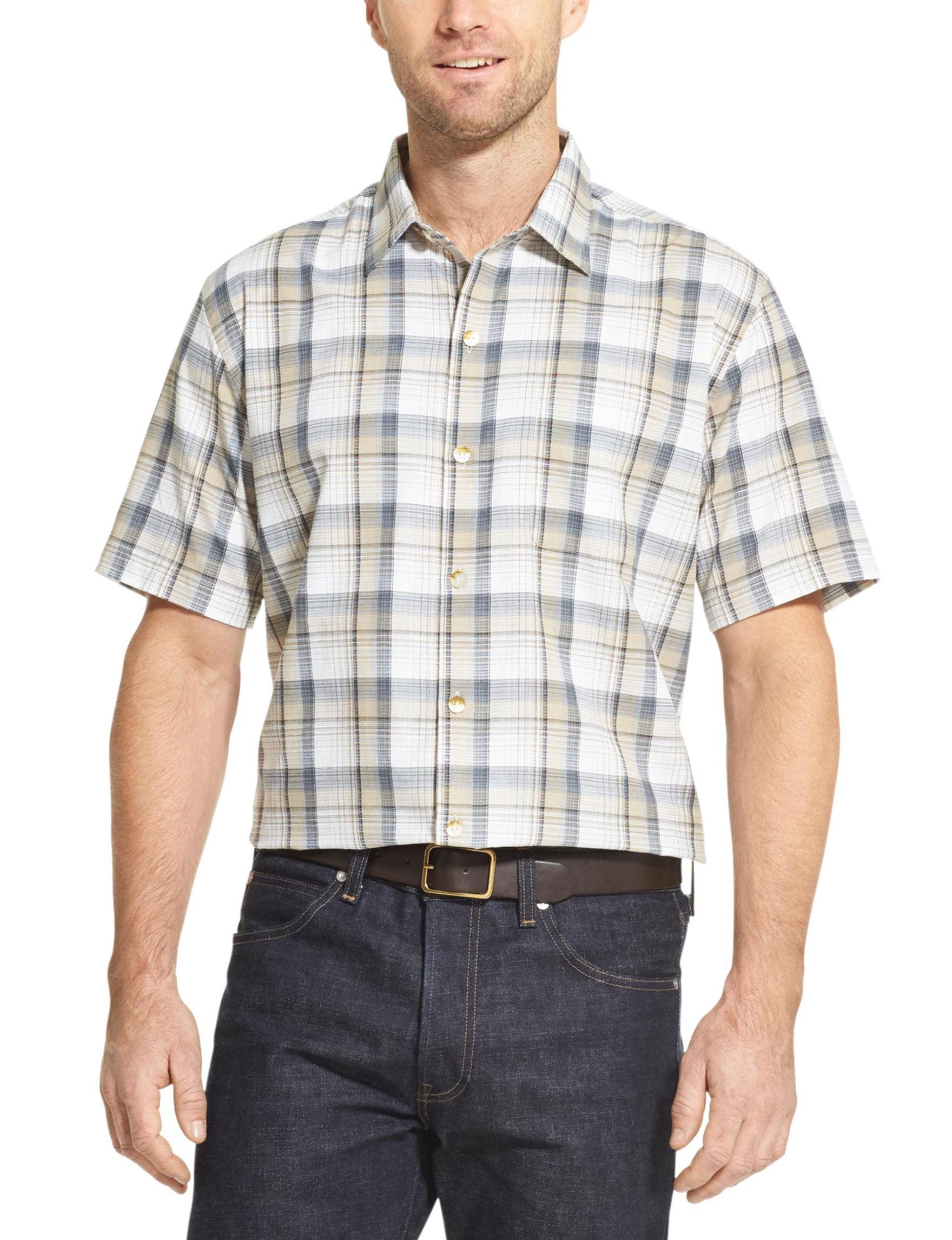 Van Heusen Chinchilla Casual Button Down Shirts