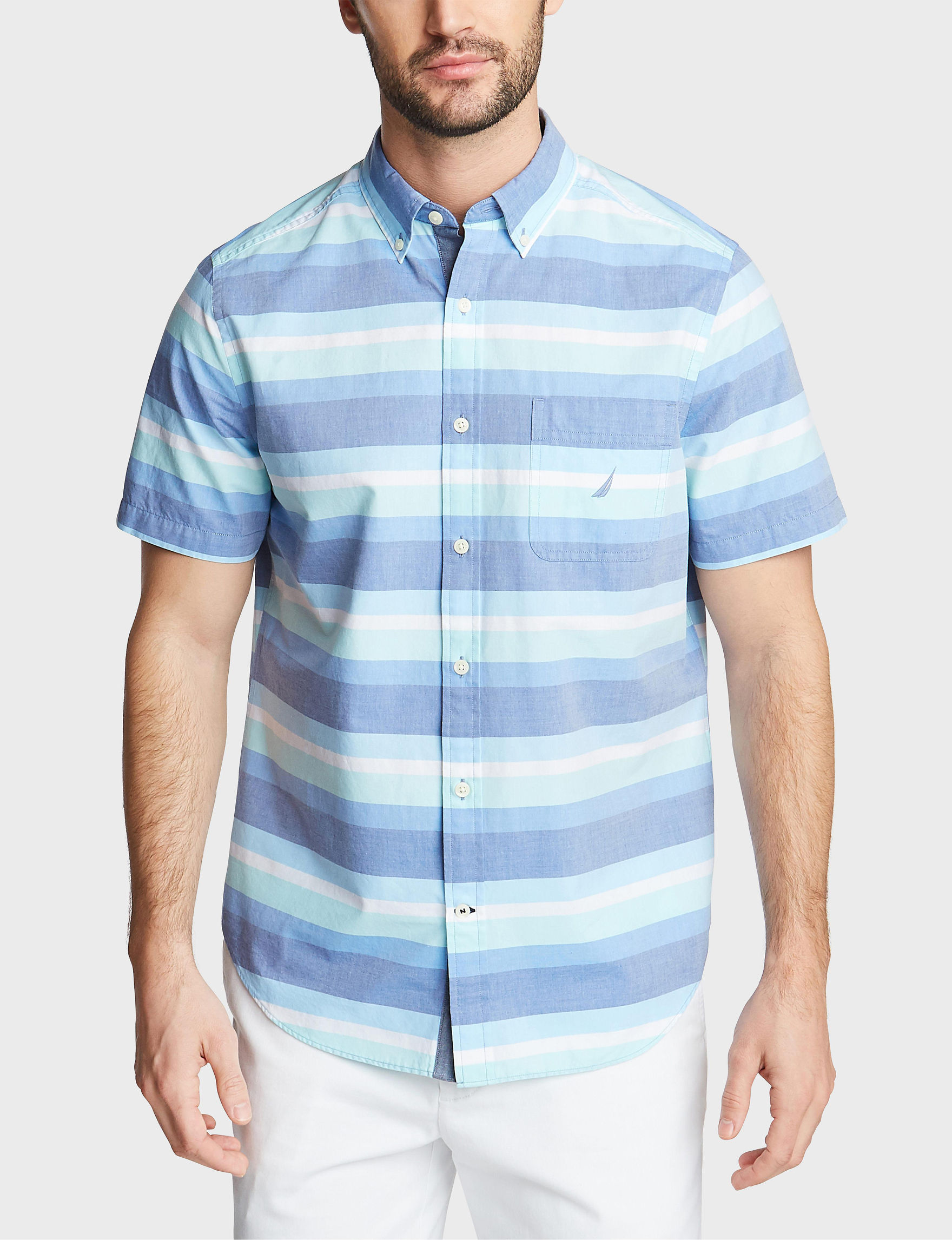 Nautica True Blue Casual Button Down Shirts