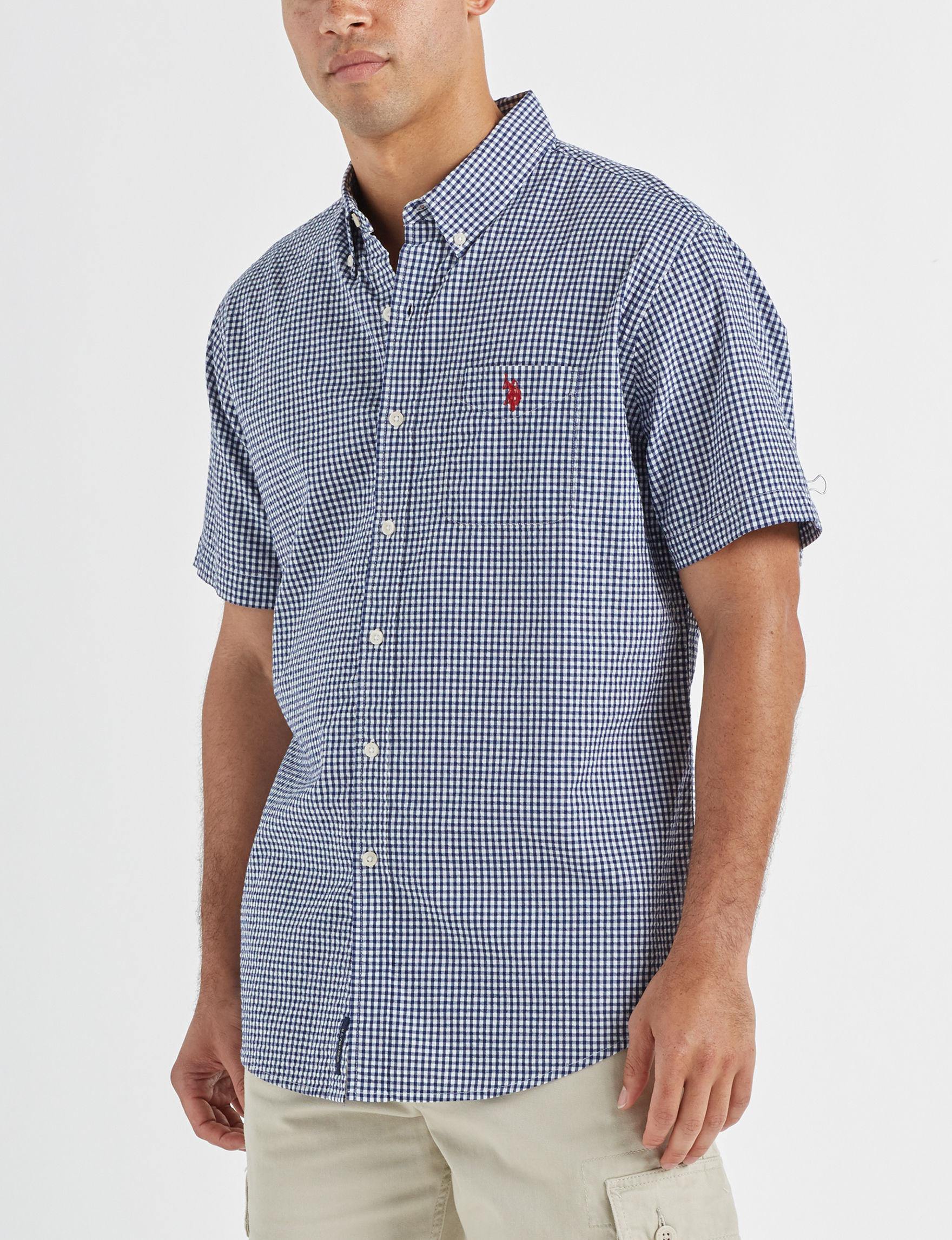 U.S. Polo Assn. Blue / Multi Casual Button Down Shirts