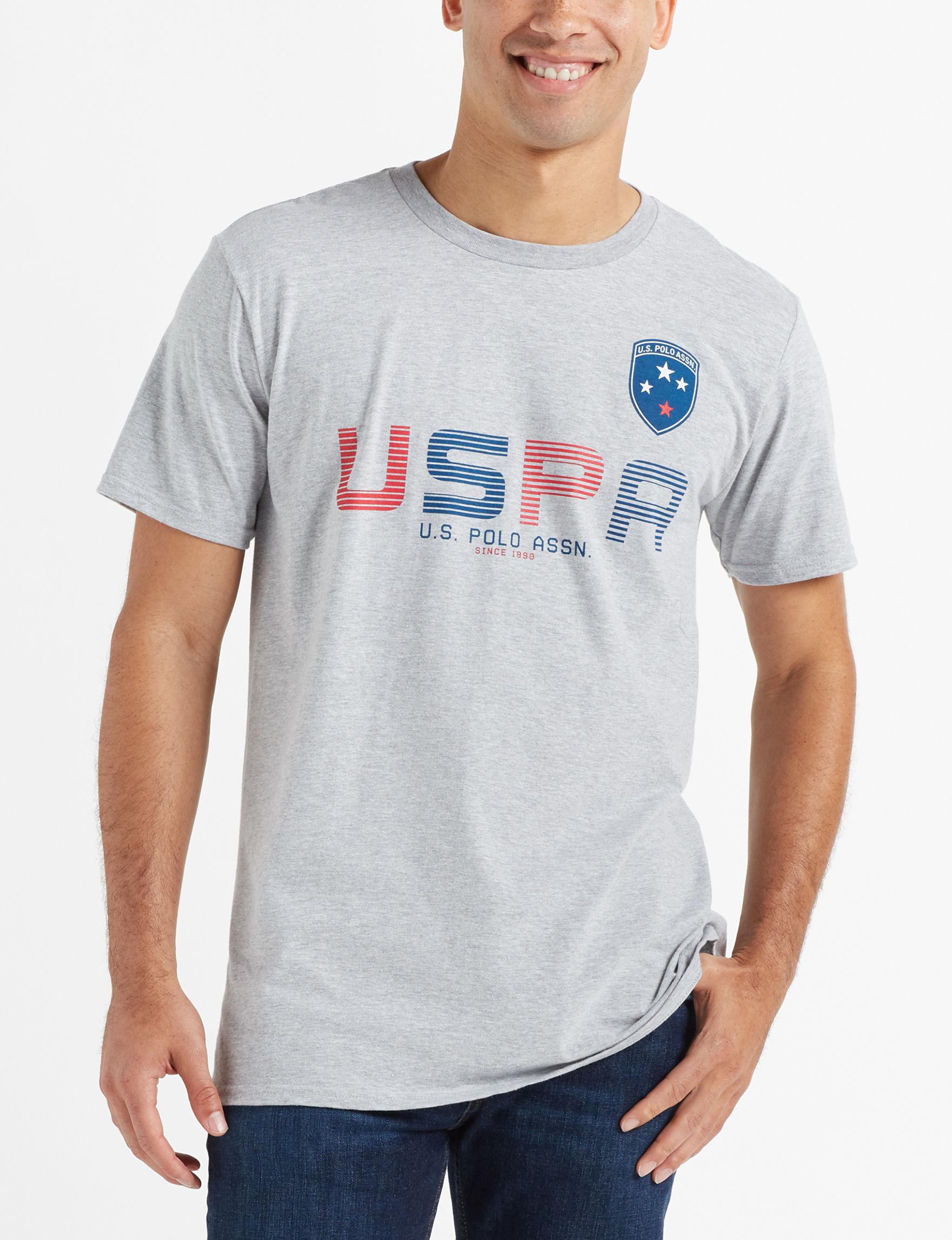 U.S. Polo Assn. Grey / Multi Tees & Tanks