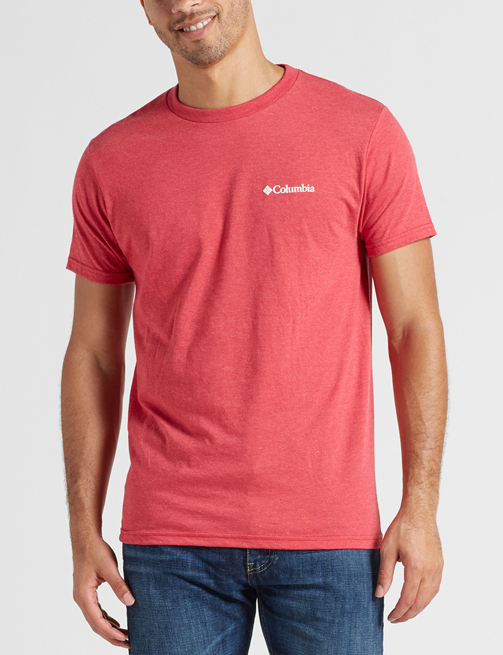 Columbia Lily Red Heather Tees & Tanks