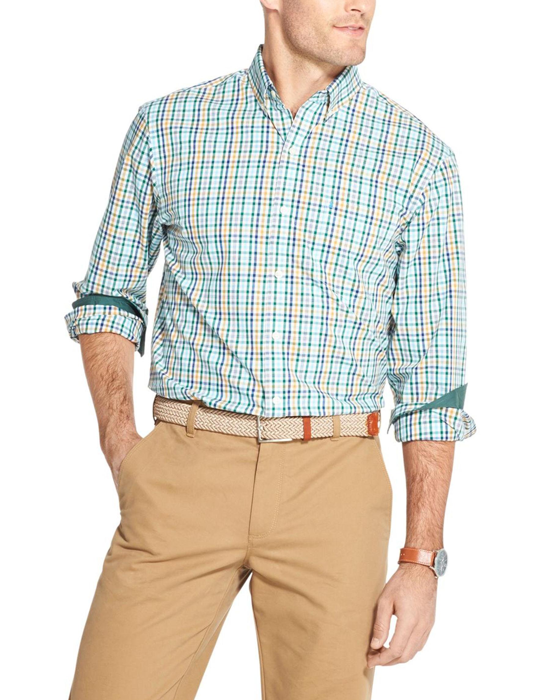 Izod Evergreen Casual Button Down Shirts