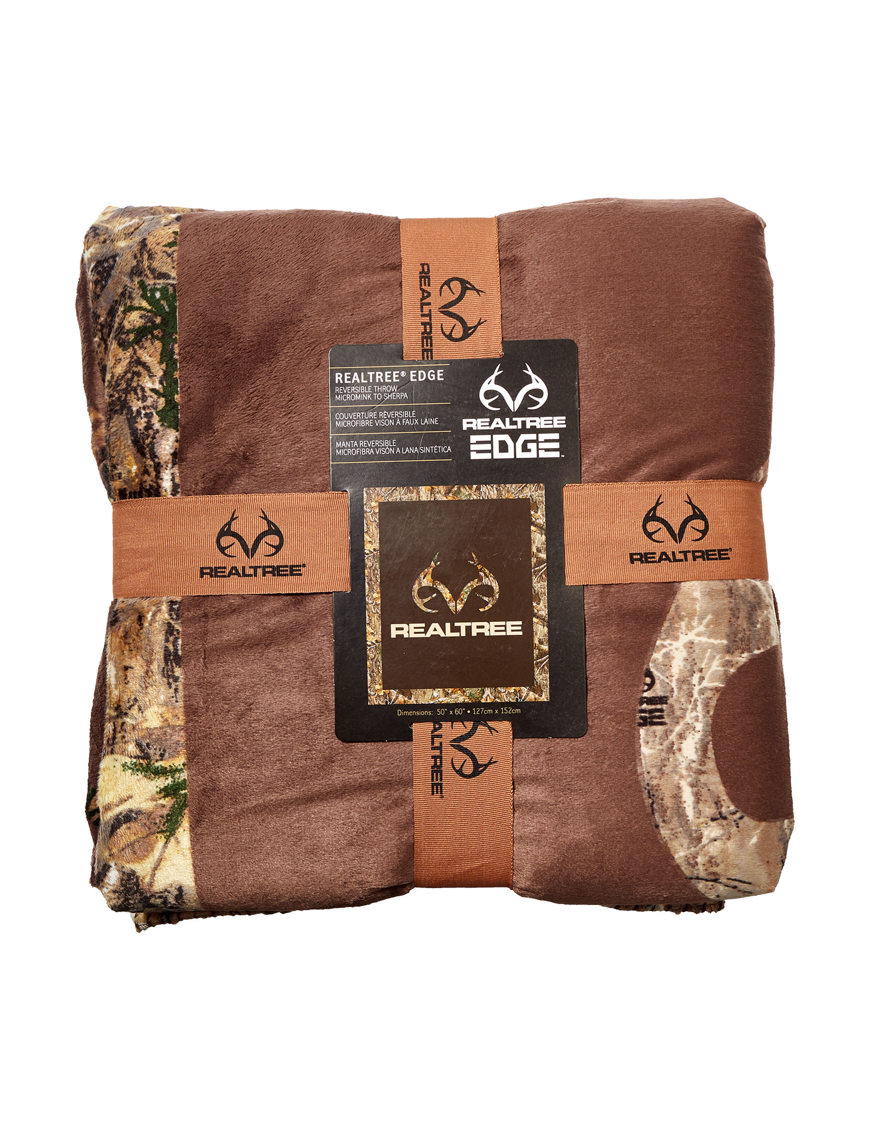 Realtree Brown Camo Blankets & Throws