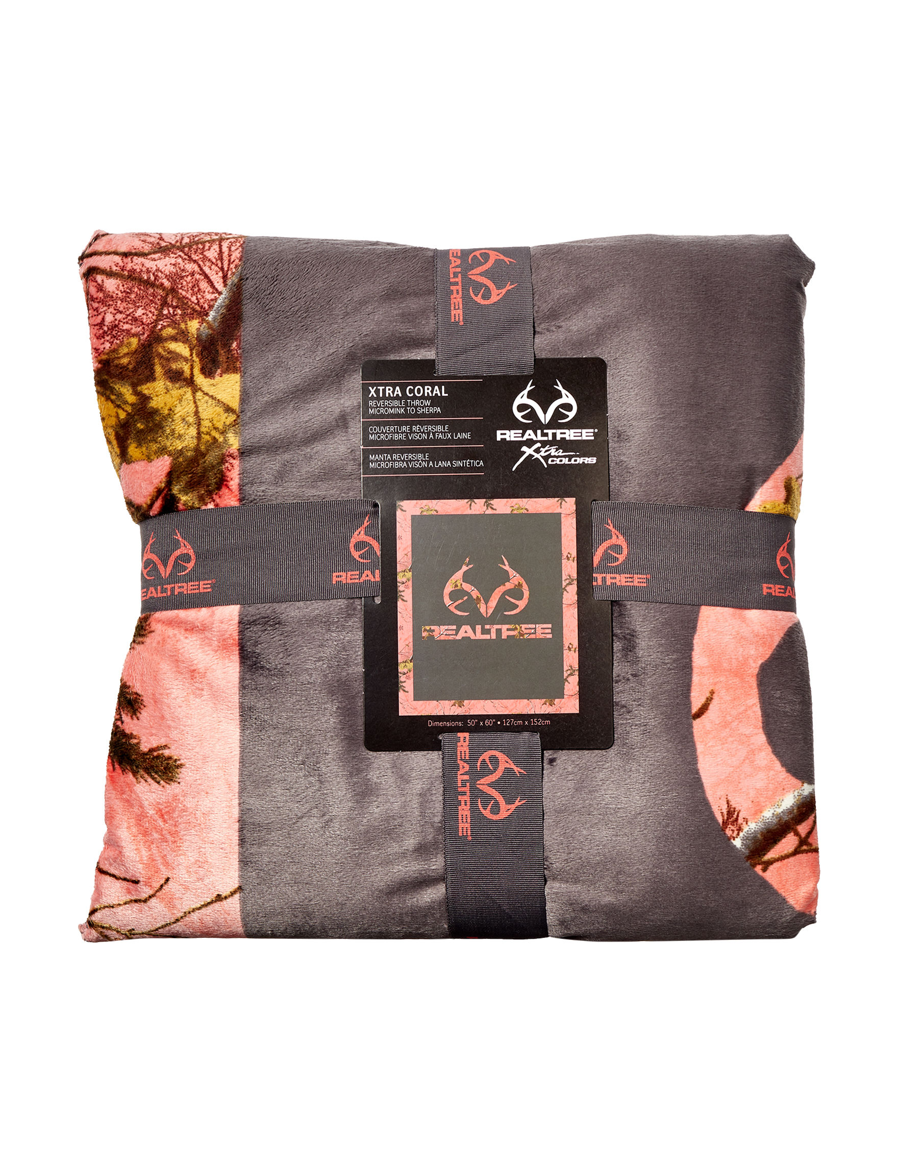 Realtree Pink Camo Blankets & Throws