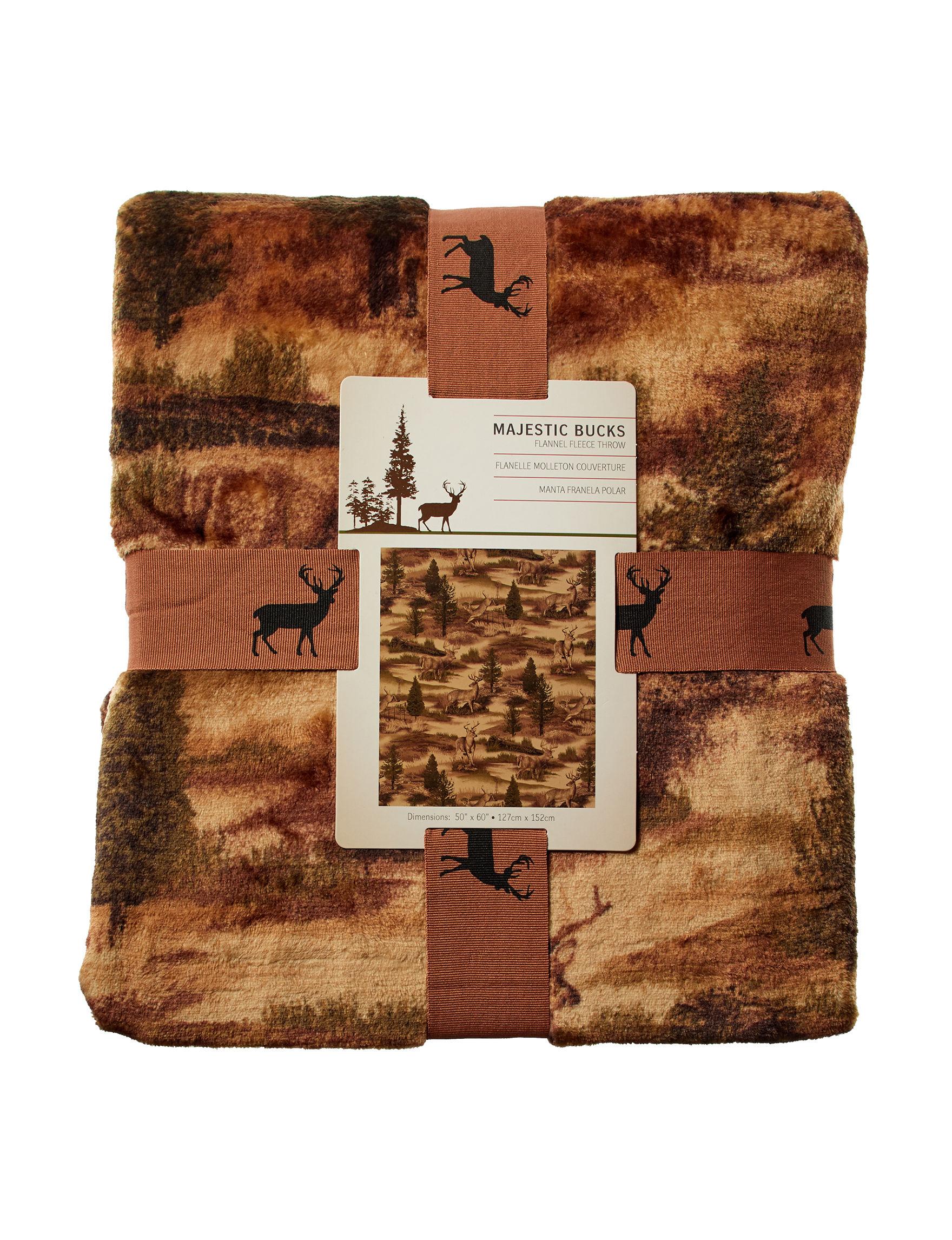 Blue Ridge Trading Brown / Beige Blankets & Throws