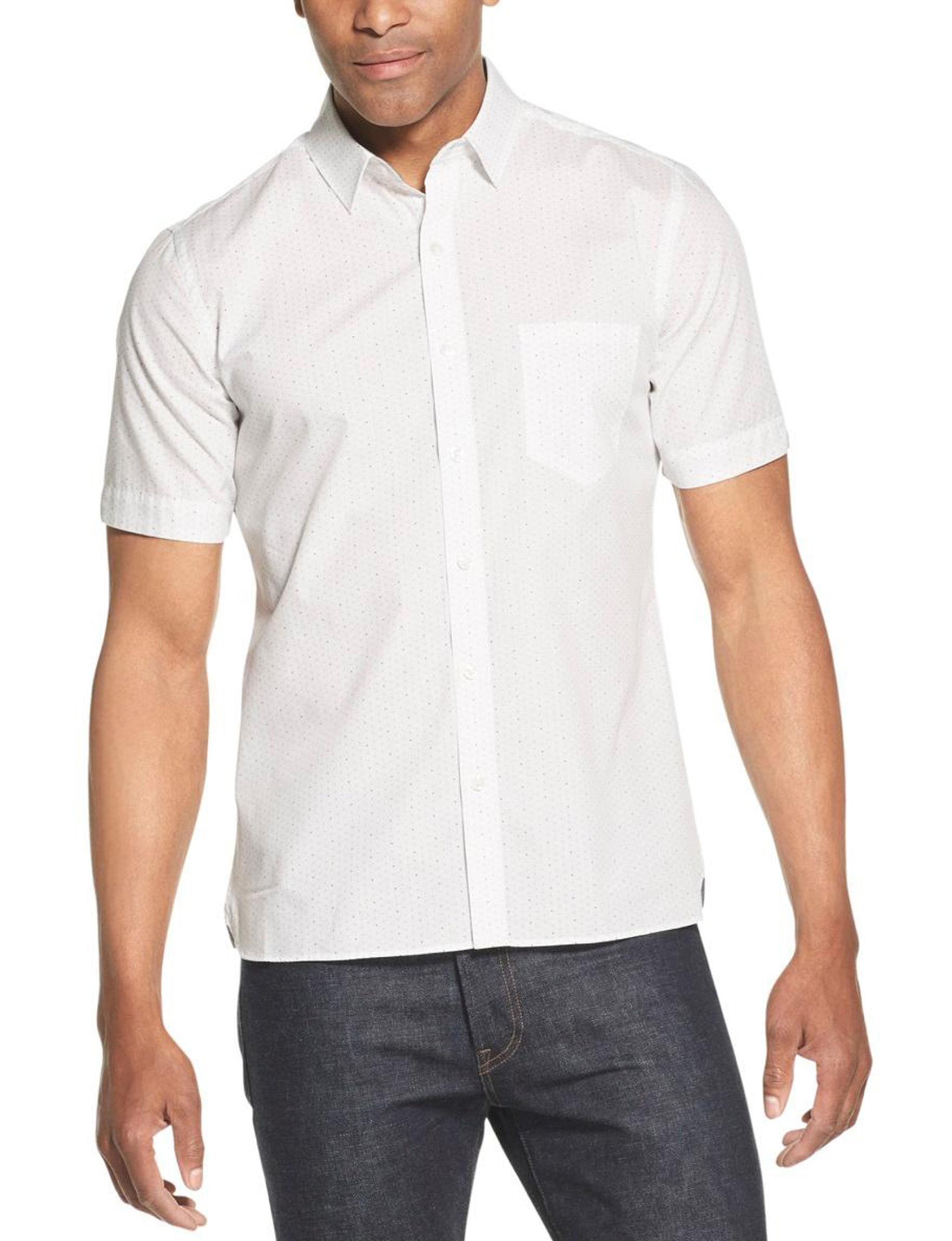 Van Heusen Bright White Casual Button Down Shirts