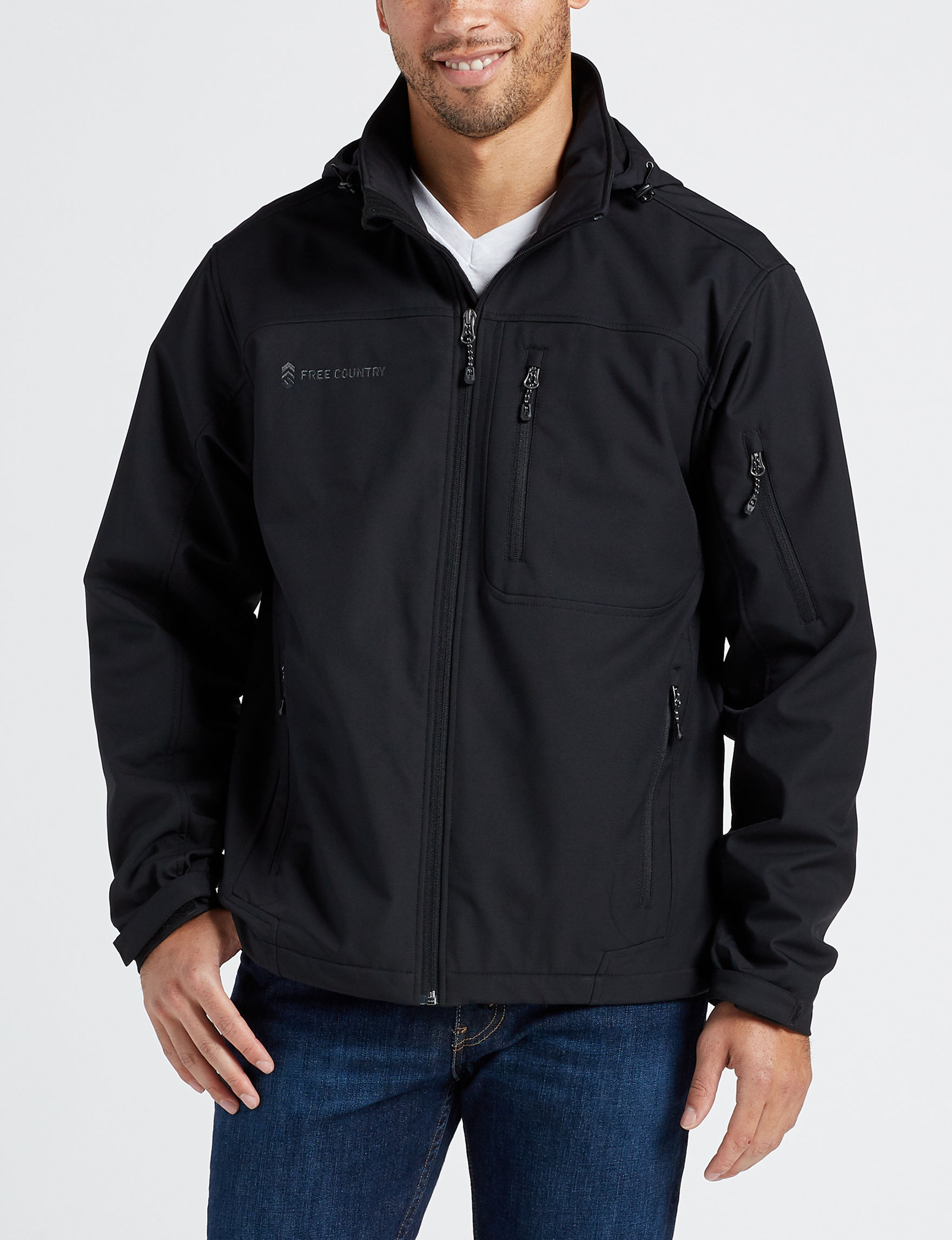Free Country Black Fleece & Soft Shell Jackets