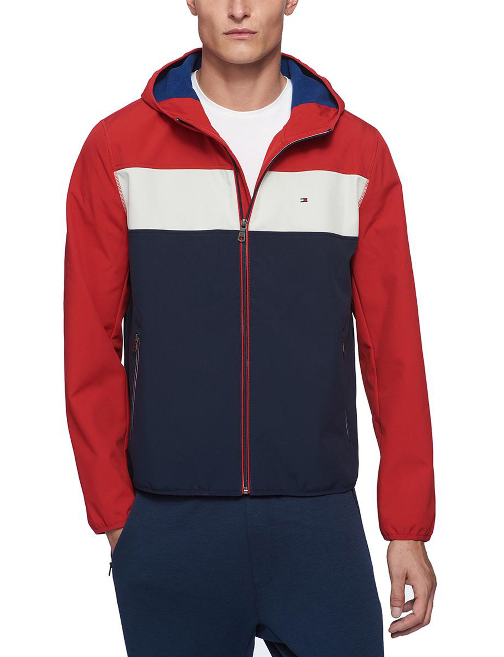 Tommy Hilfiger Red / Multi Fleece & Soft Shell Jackets