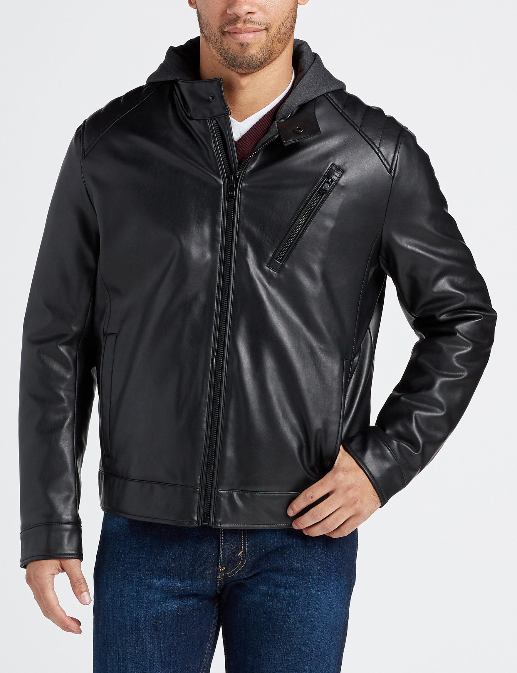 Michael Kors Black / Grey Bomber & Moto Jackets