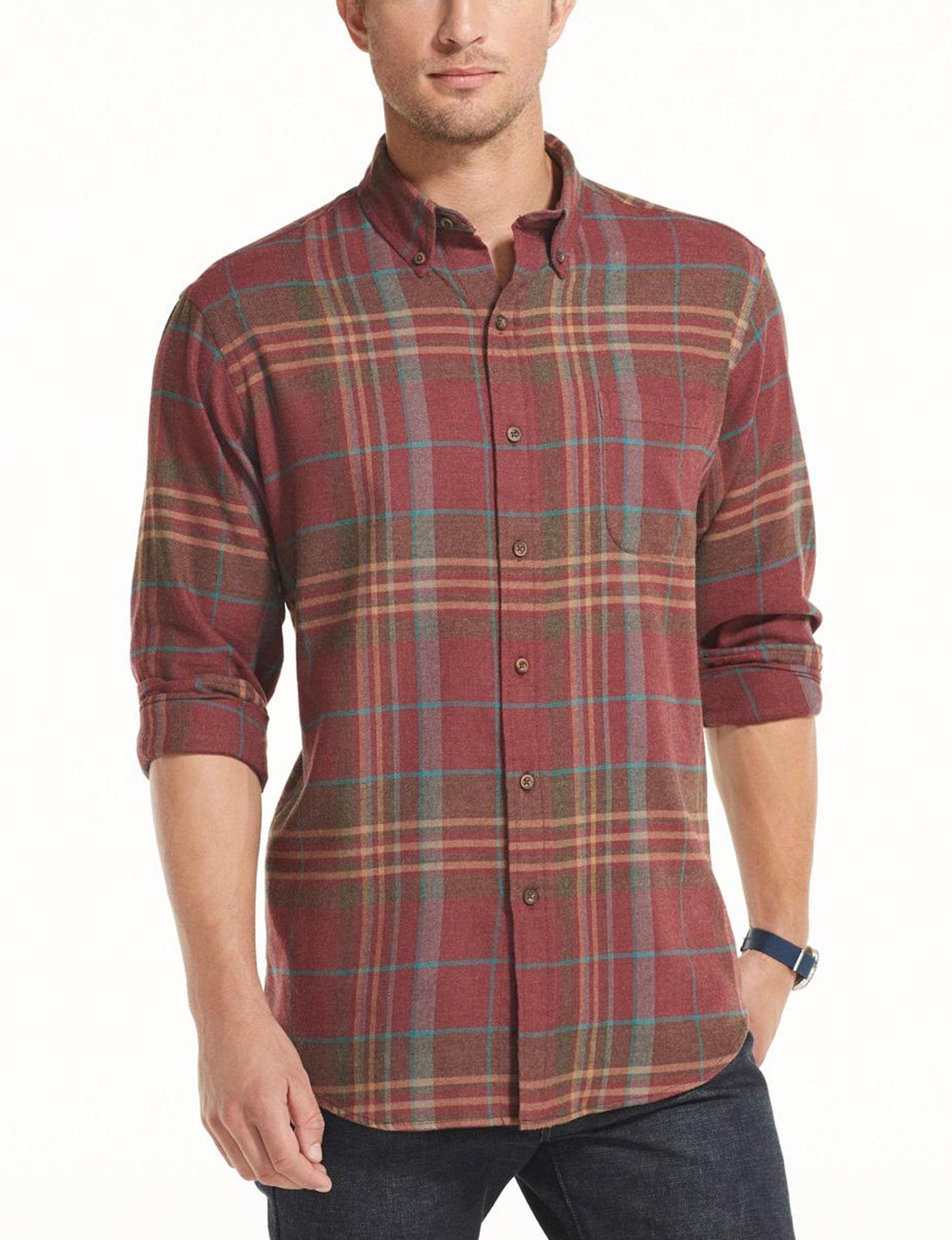 Arrow Madder Brown Casual Button Down Shirts