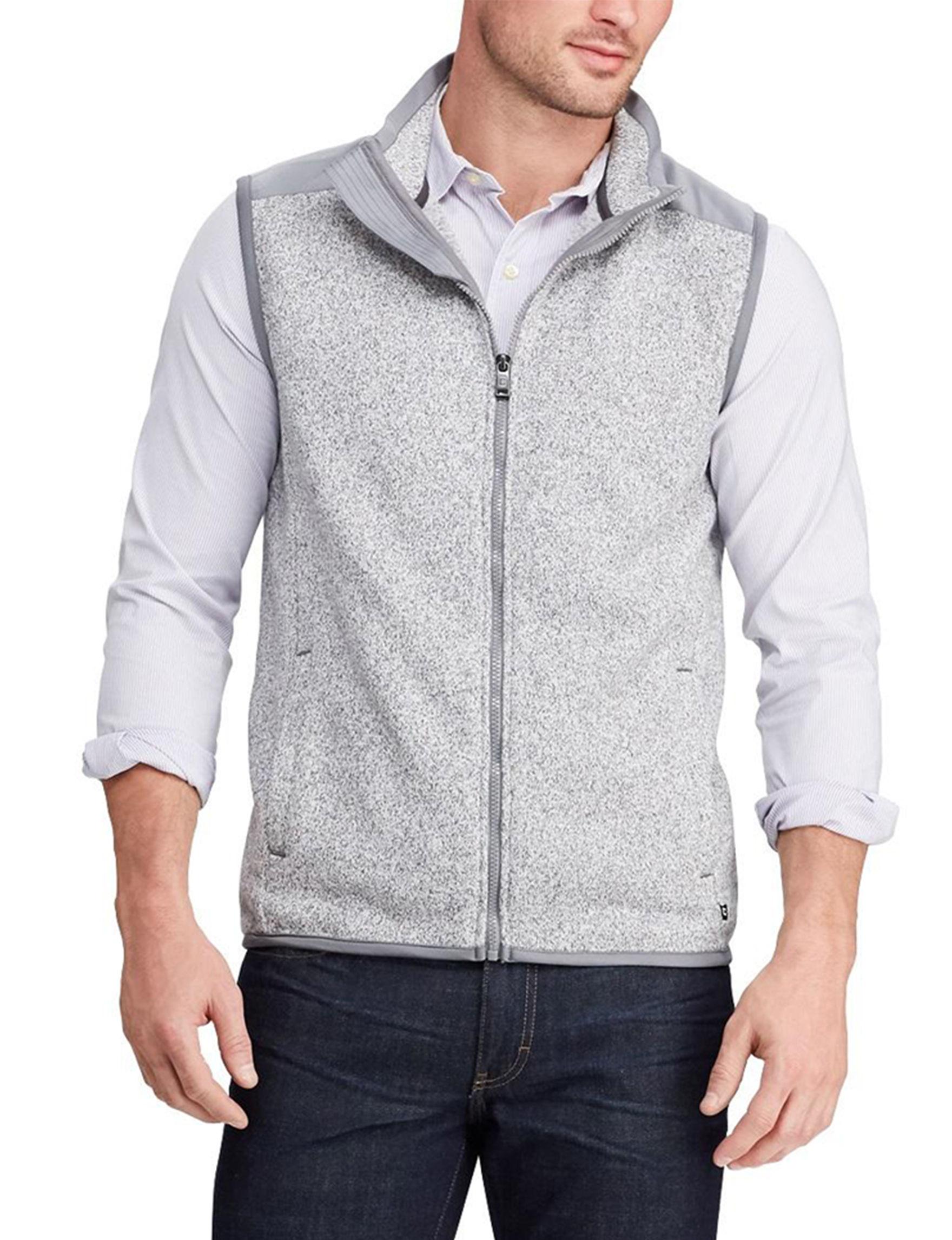 Chaps Light Grey Sweater Vests
