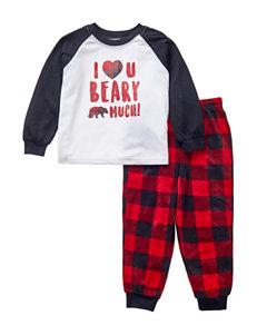 #Fam Jams Red Bear Pajama Sets