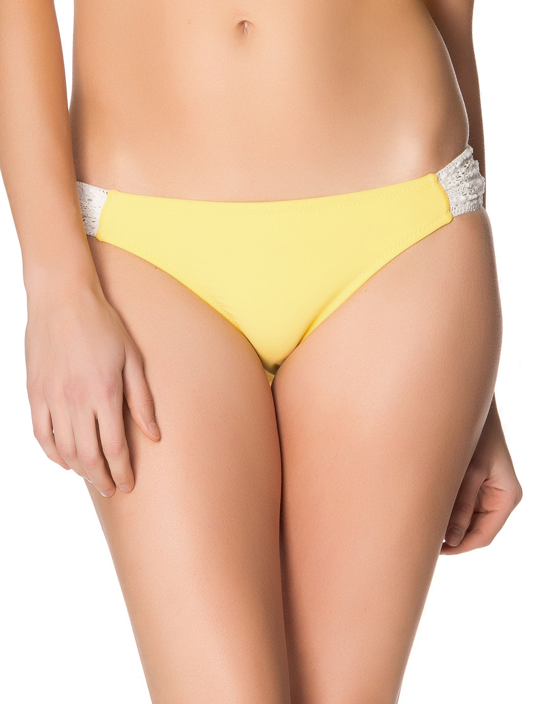 Jessica Simpson Yellow Swimsuit Bottoms Bikini
