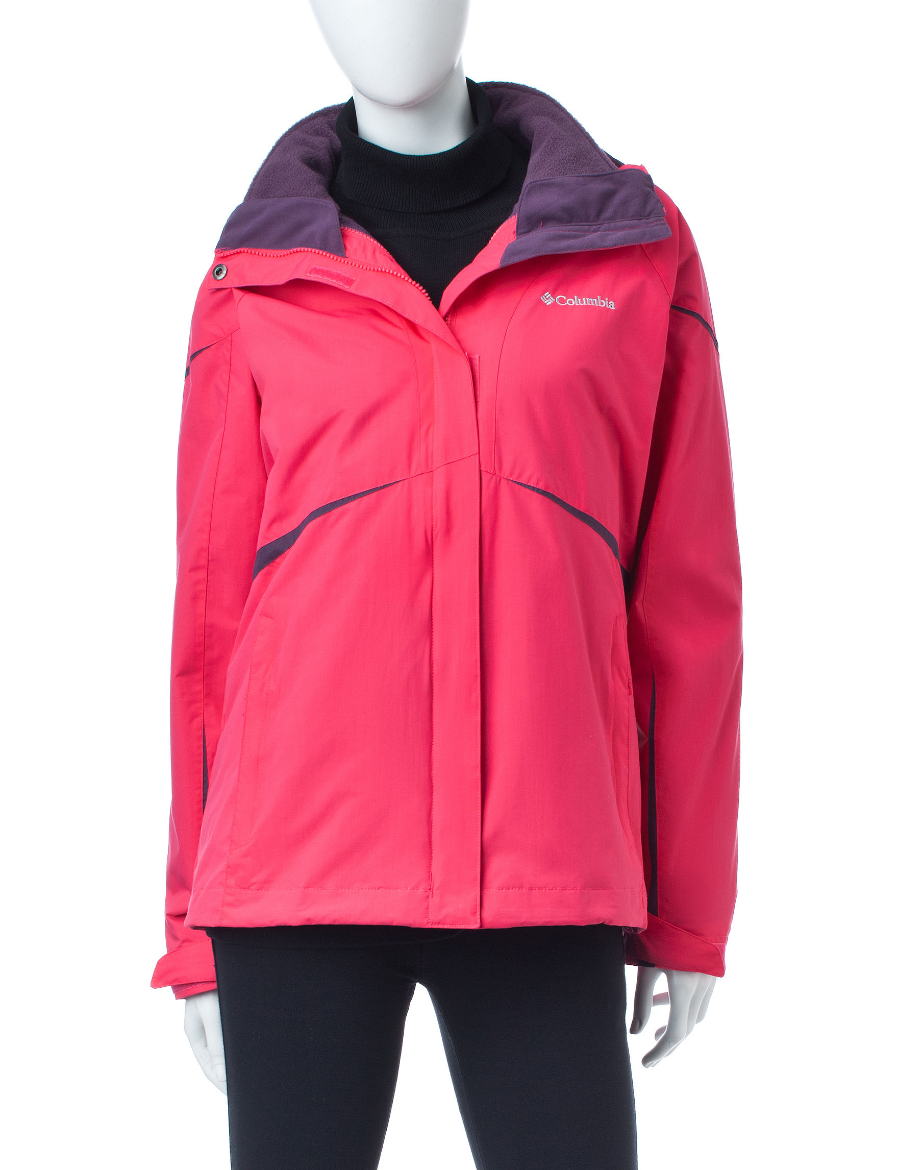 Columbia Pink Rain & Snow Jackets