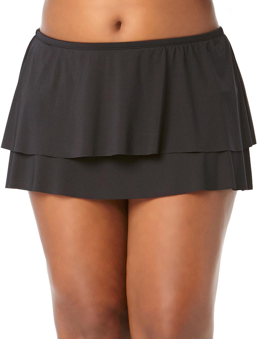 Cole of California Black Swimsuit Bottoms Skirtini