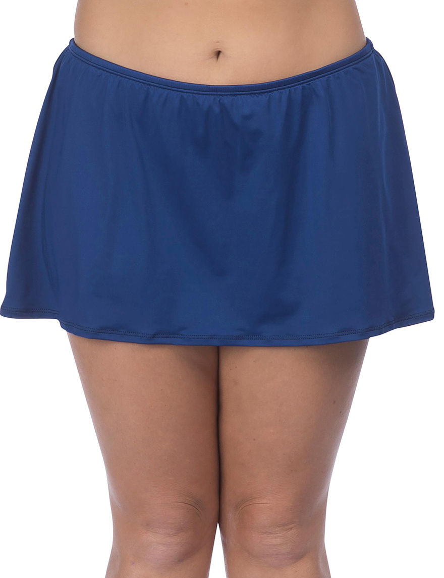 24th & Ocean Navy Swimsuit Bottoms Skirtini