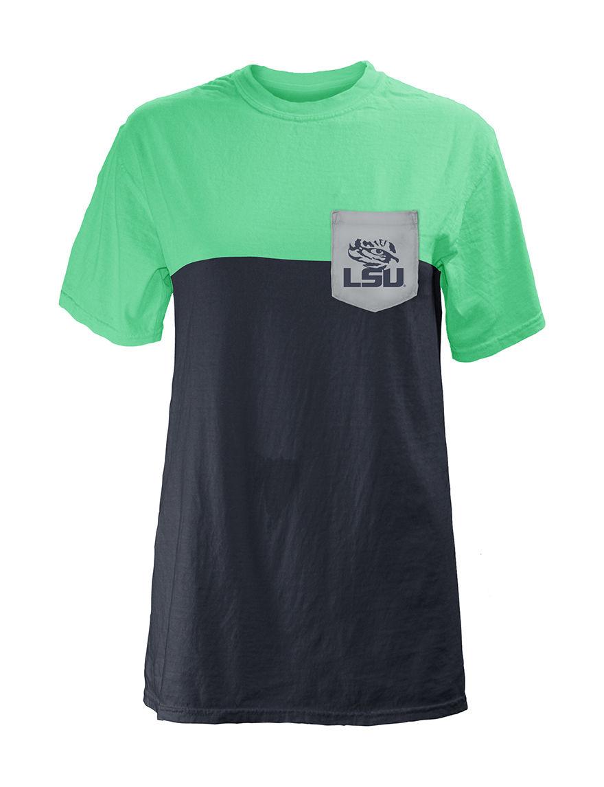 NCAA Blue Denim Shirts & Blouses Tees & Tanks