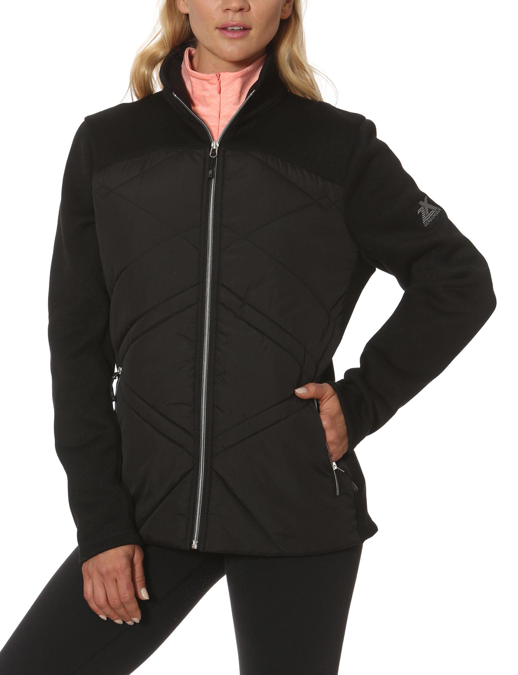 Zero Xposur Black Lightweight Jackets & Blazers