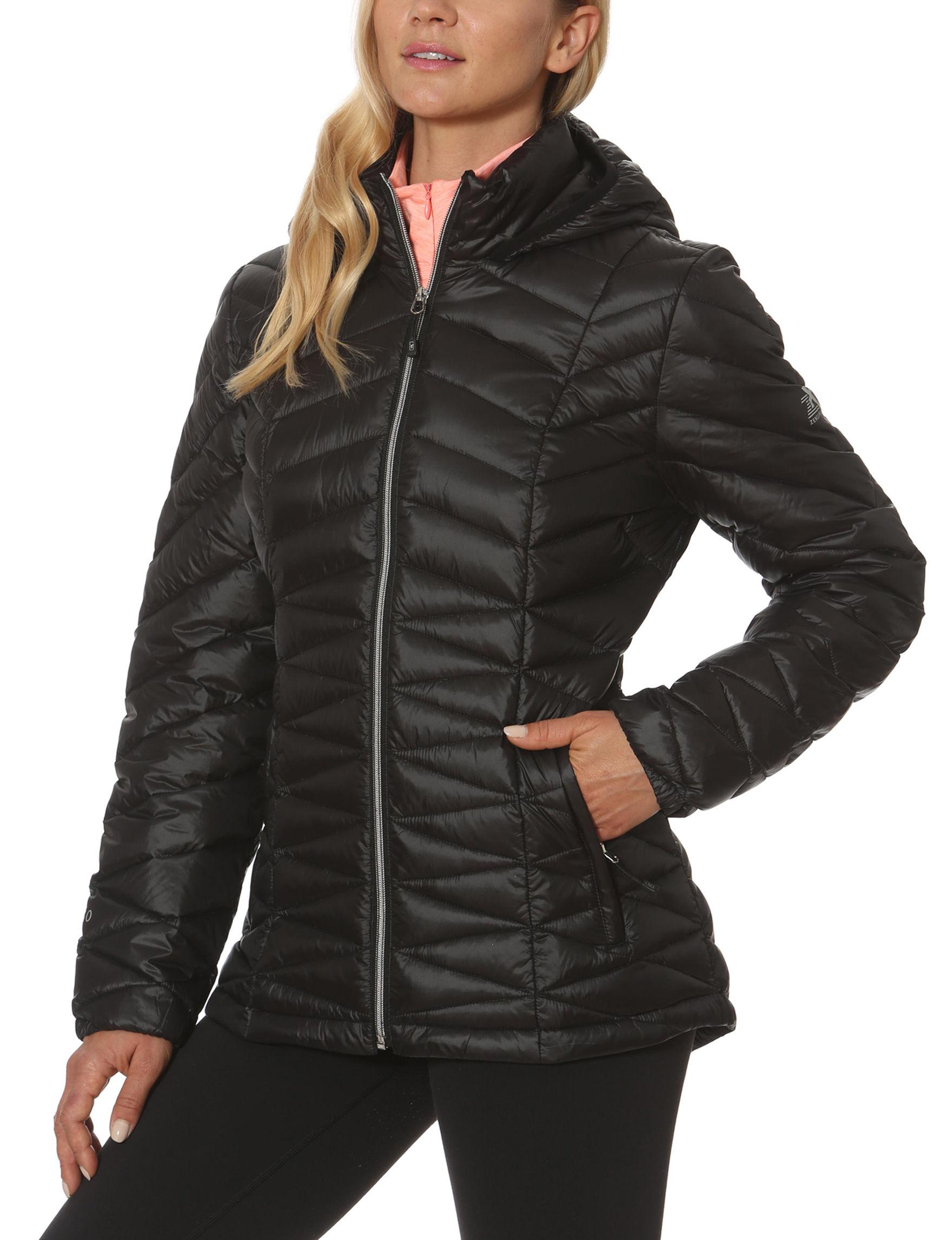 Zero Xposur Black Puffer & Quilted Jackets