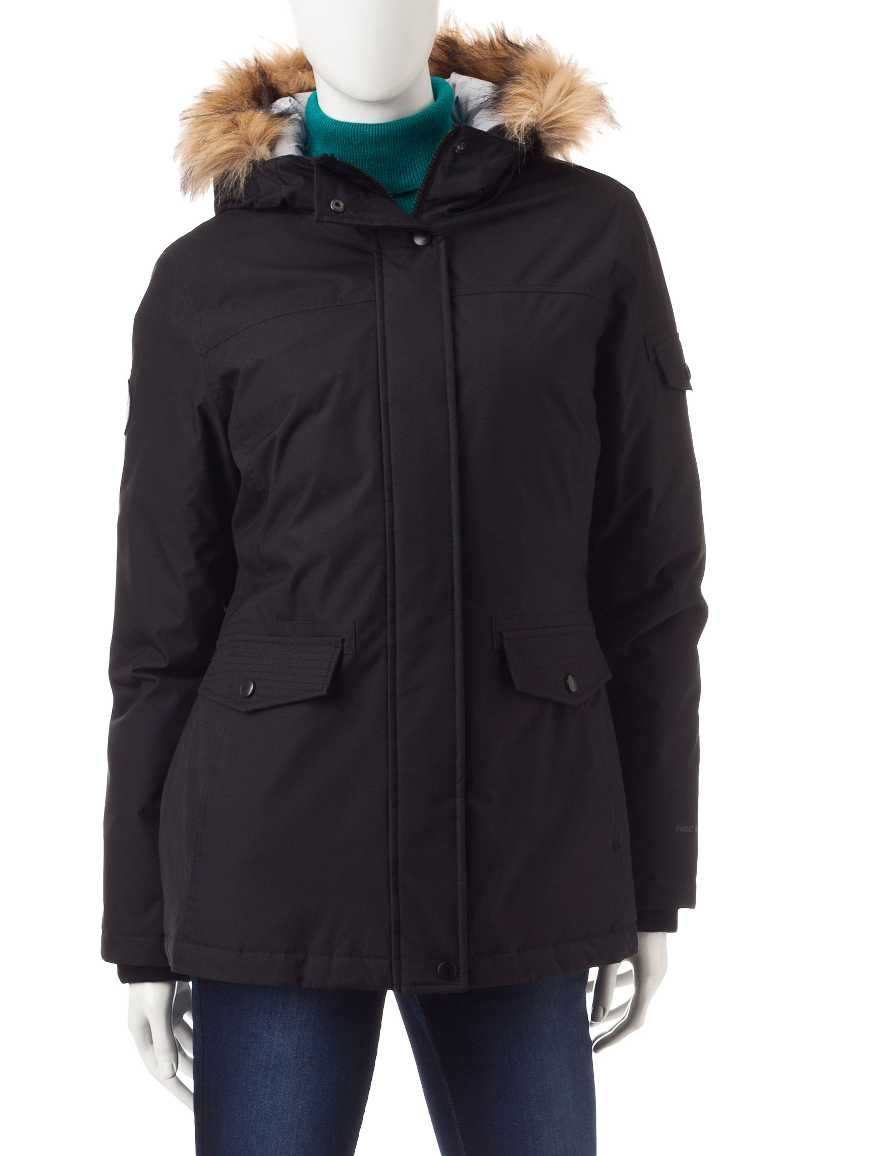 Free Country Black Puffer & Quilted Jackets